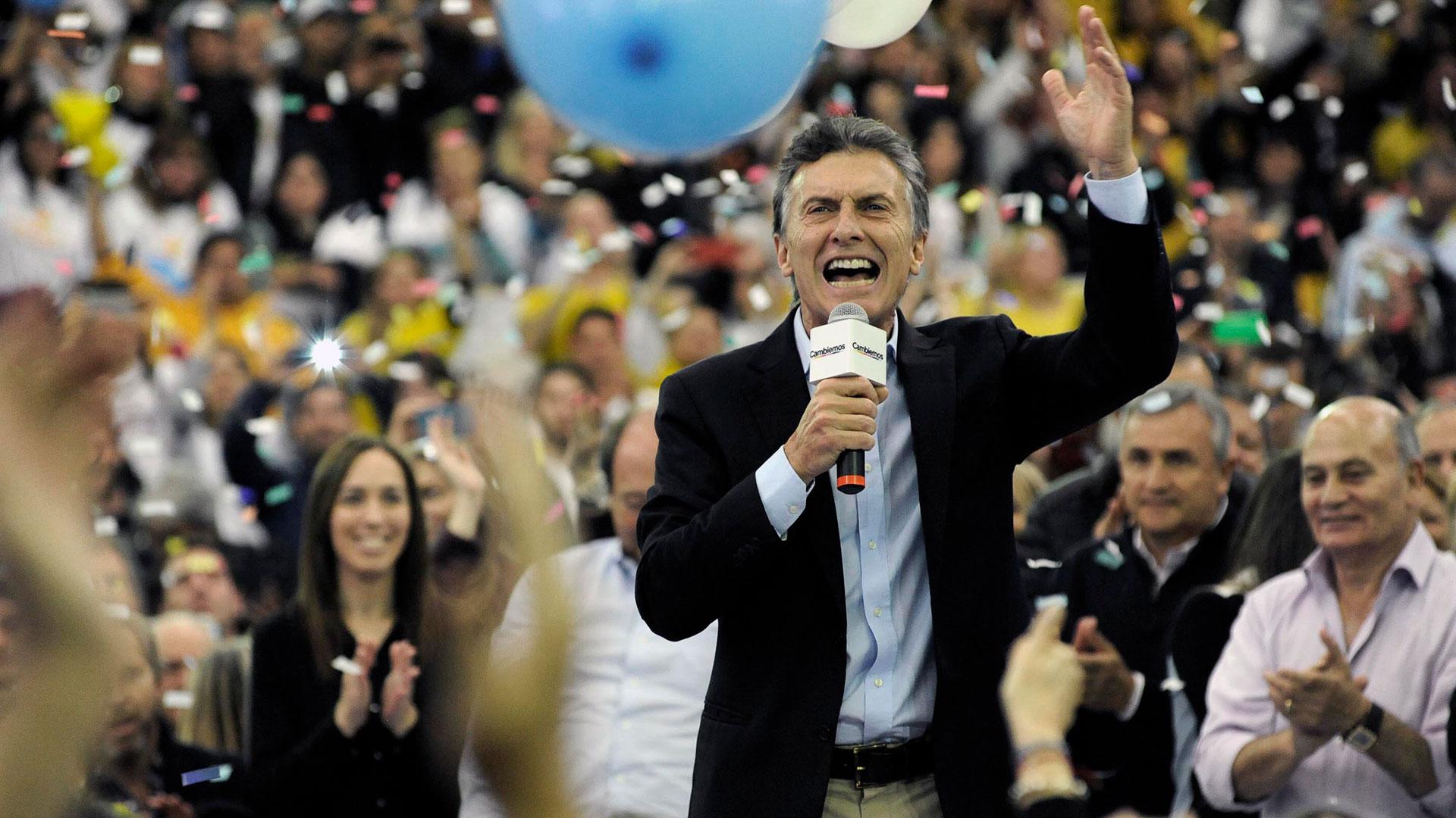 Mauricio Macri, tras el triunfo en 2015 (foto de archivo)