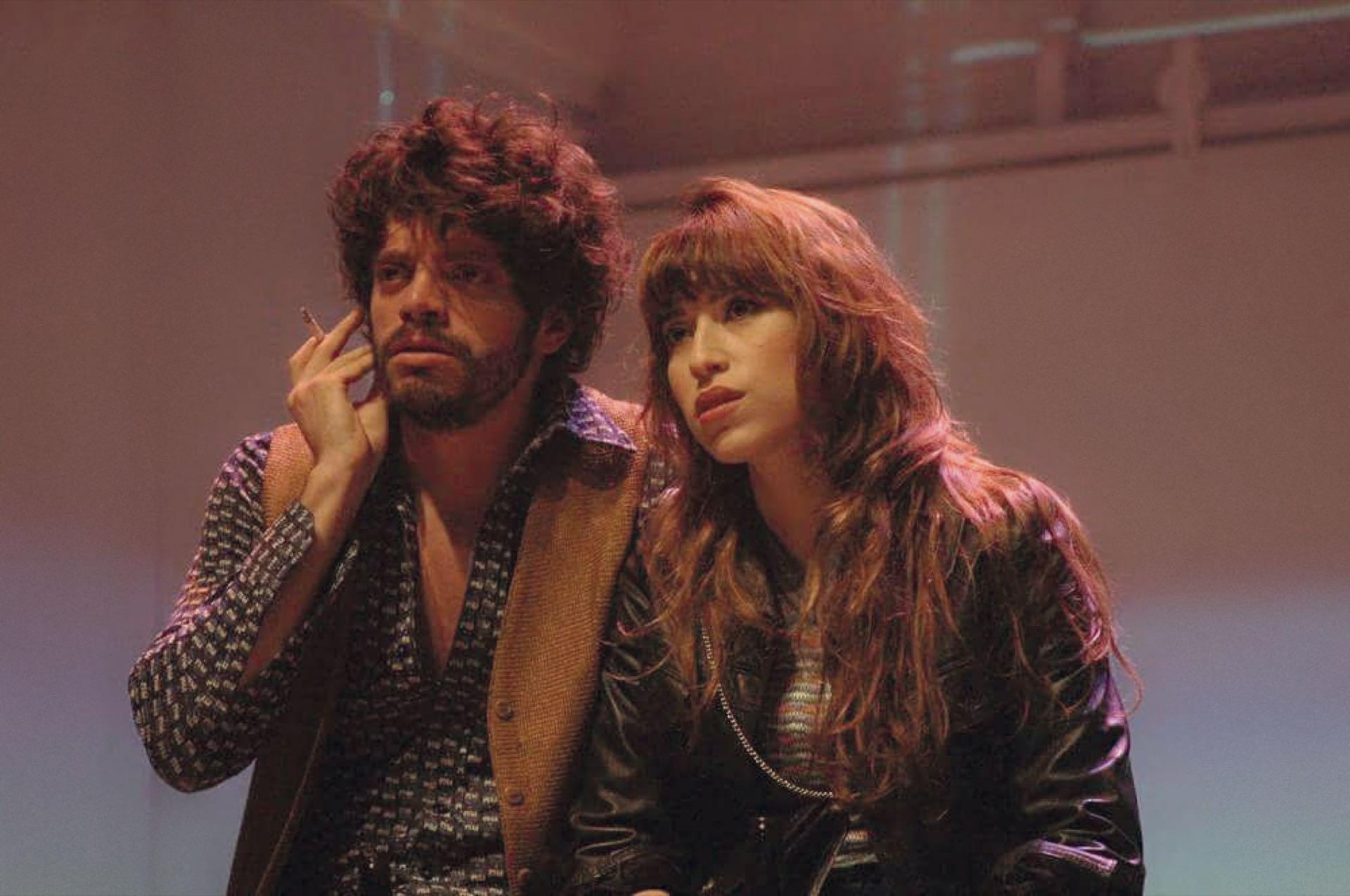 Junto al actor FedericoSalles Gribodo (el mismo de Animal) en Tango Feroz.