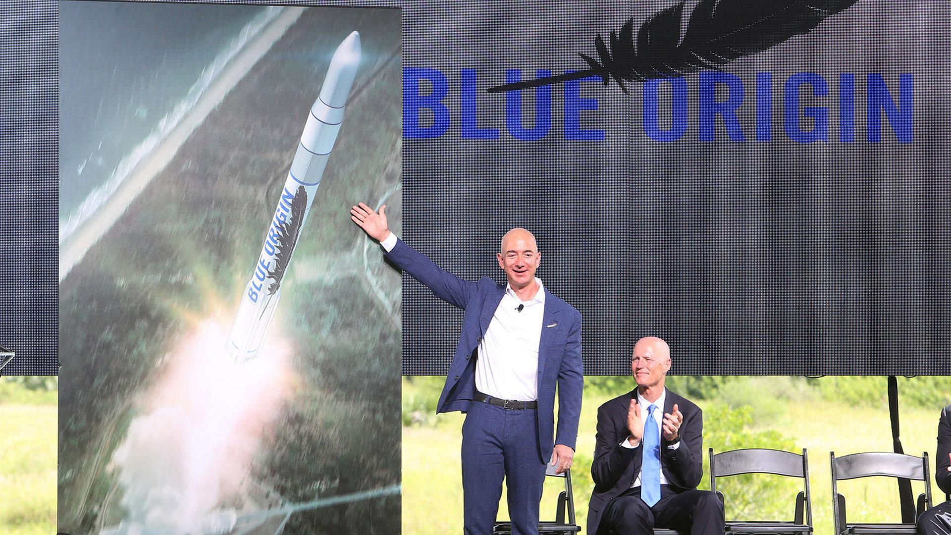 Bezos quiere que su compañía Blue Origin sea una líder en viajes espaciales comerciales y turísticos