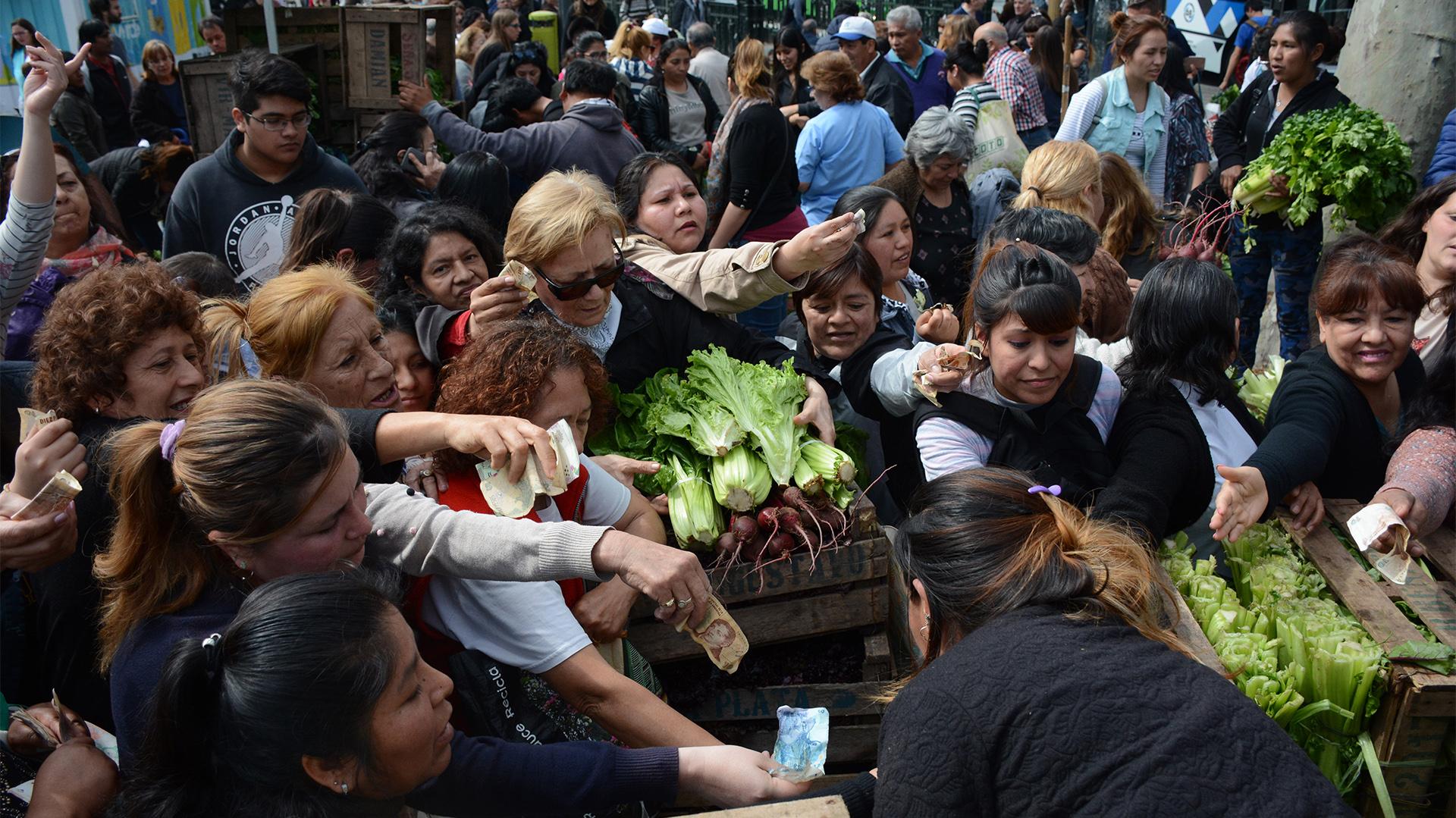 Pequeños productores venden el kilo de verdura a 10 pesos