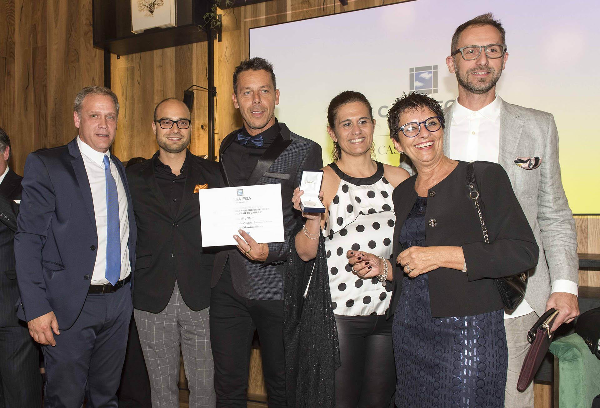Los ganadores durante la entrega de premios de Casa FOA 2018