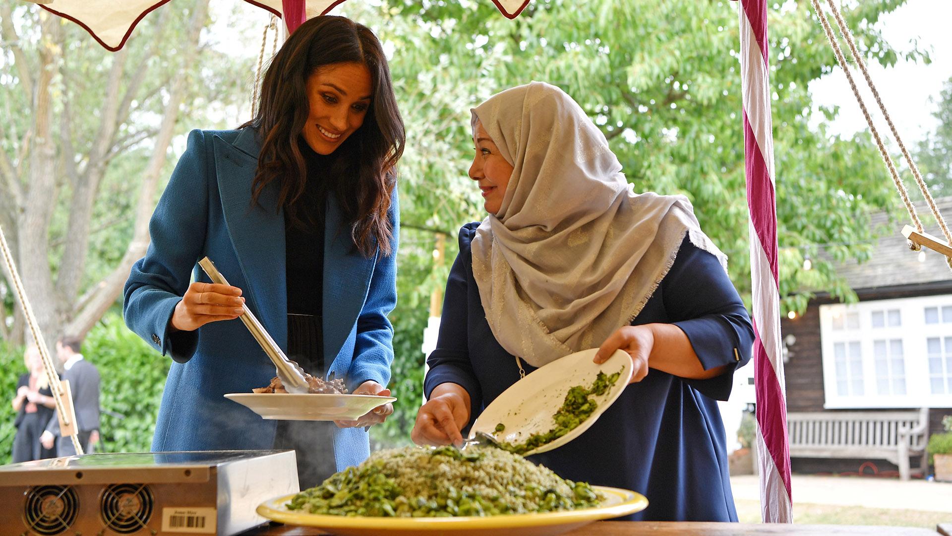 El libro de recetas se presentó en los jardines del Palacio de Kensington