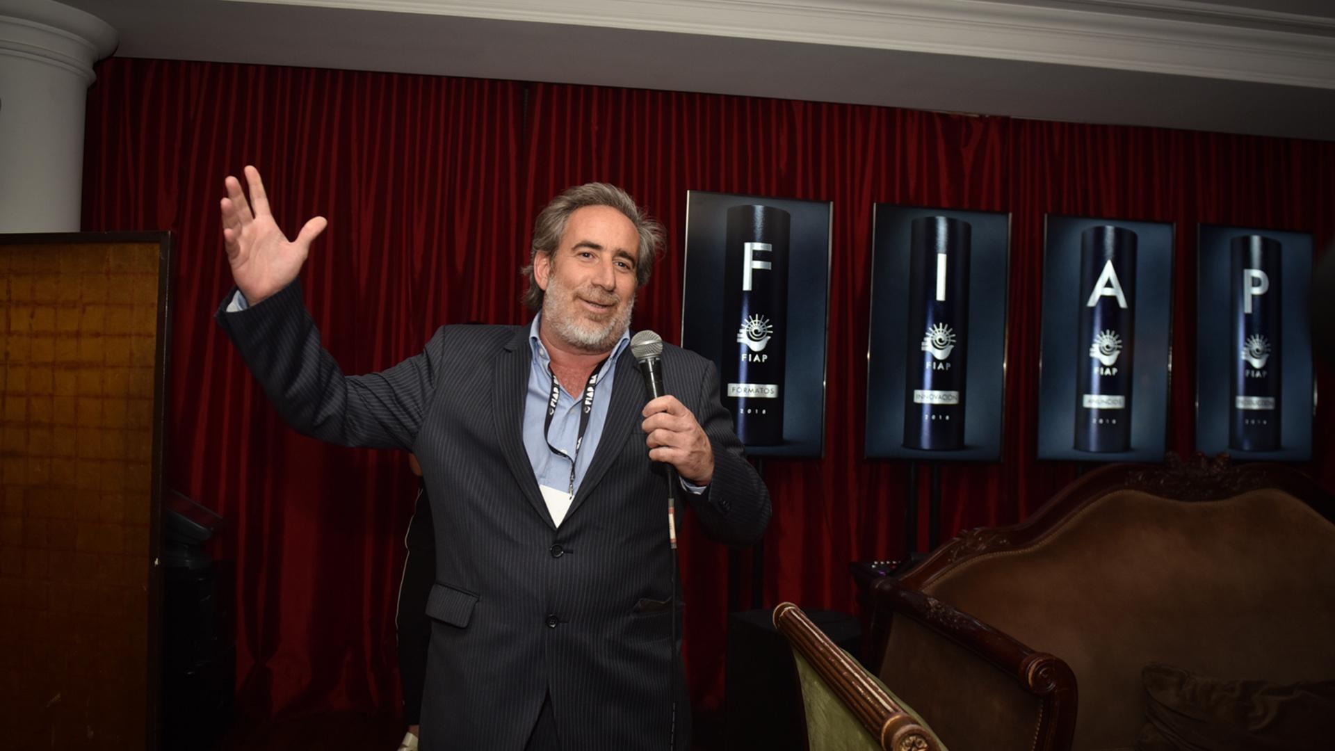 Rodrigo Figueroa Reyes, presidente y socio del Festival Iberoamericano de la Publicidad – FIAP 2018, durante el exclusivo cóctel de apertura de la edición 49°