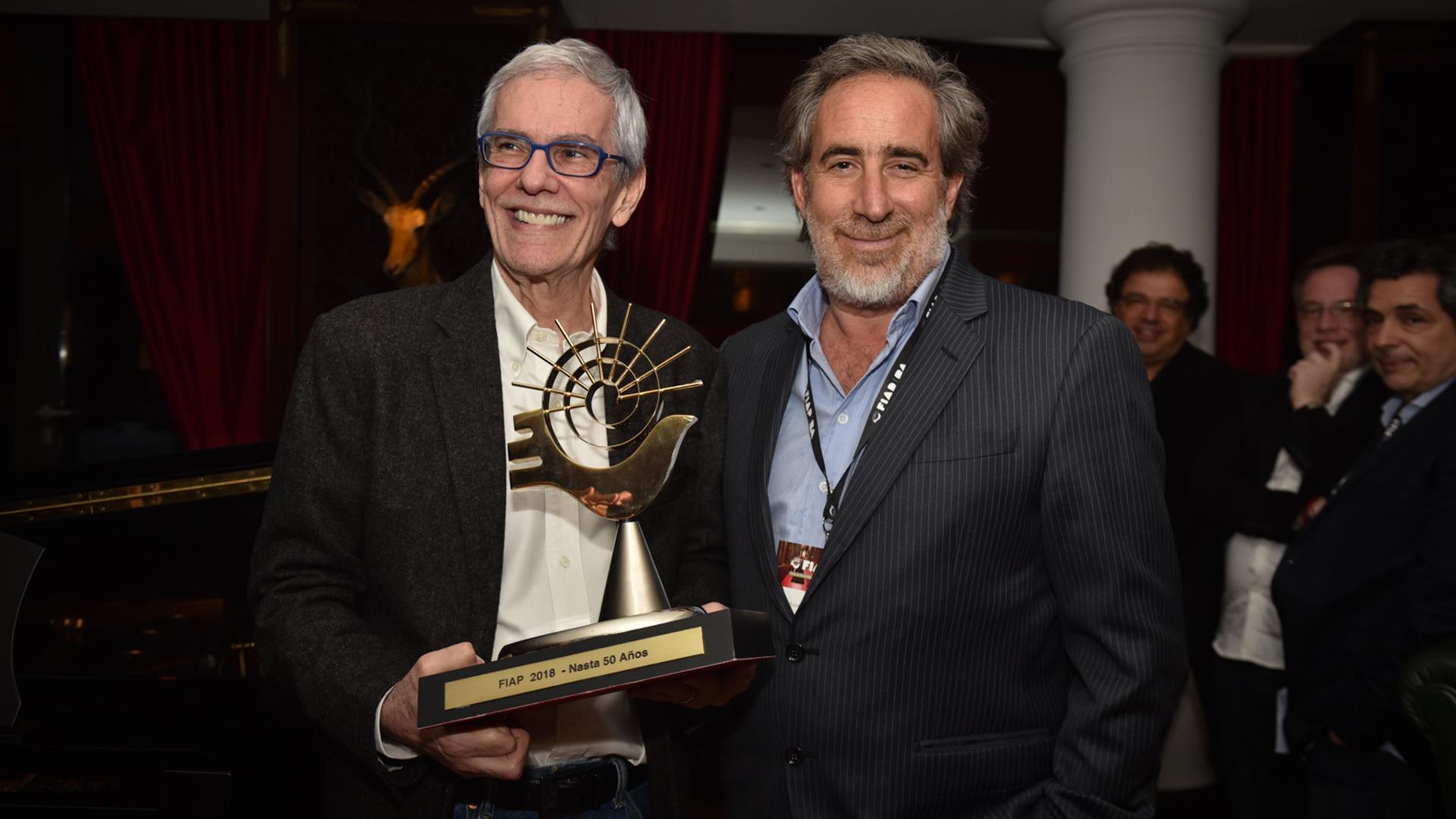 Daniel Nasta recibió una distinción por su trayectoria de 50 años en la industria publicitaria