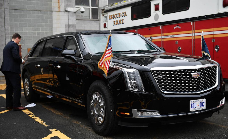 """""""La Bestia"""", utilizada por Donald Trump en Nueva York durante la última Asamblea General de la ONU."""