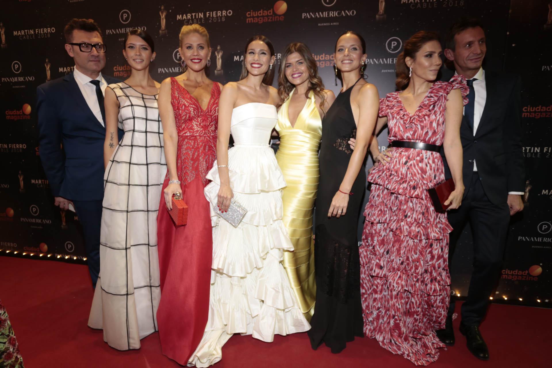 Gabriel Oliveri, Natalia Chamorro, Barbie Simons, Pampita, Angeles Balbiani, Julieta Novaro y Martín Arozarena