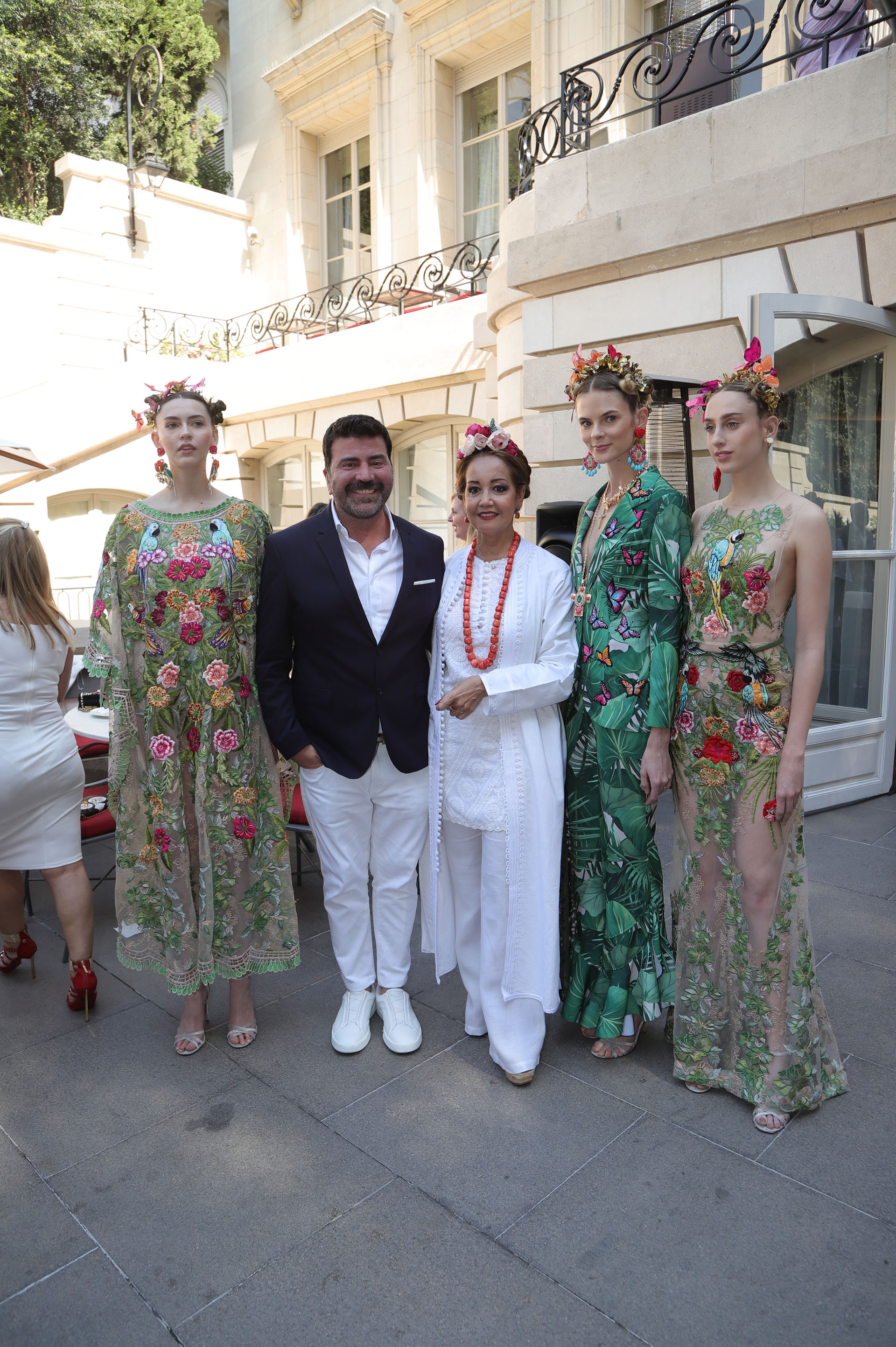 Javier Saiach realizó especialmente una colección para el evento, totalmente inspirada en Frida Khalo