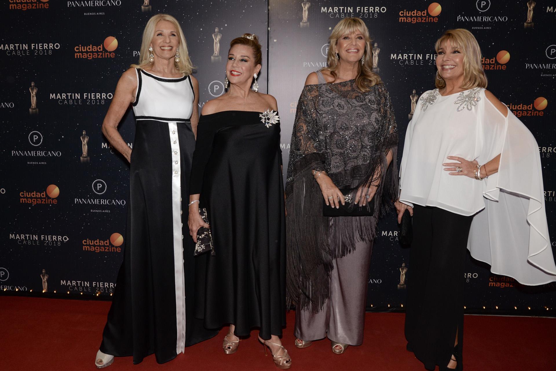 Evelyn Scheidl, Marcela Tinayre, Marcela Gotlib y Adriana Constantini