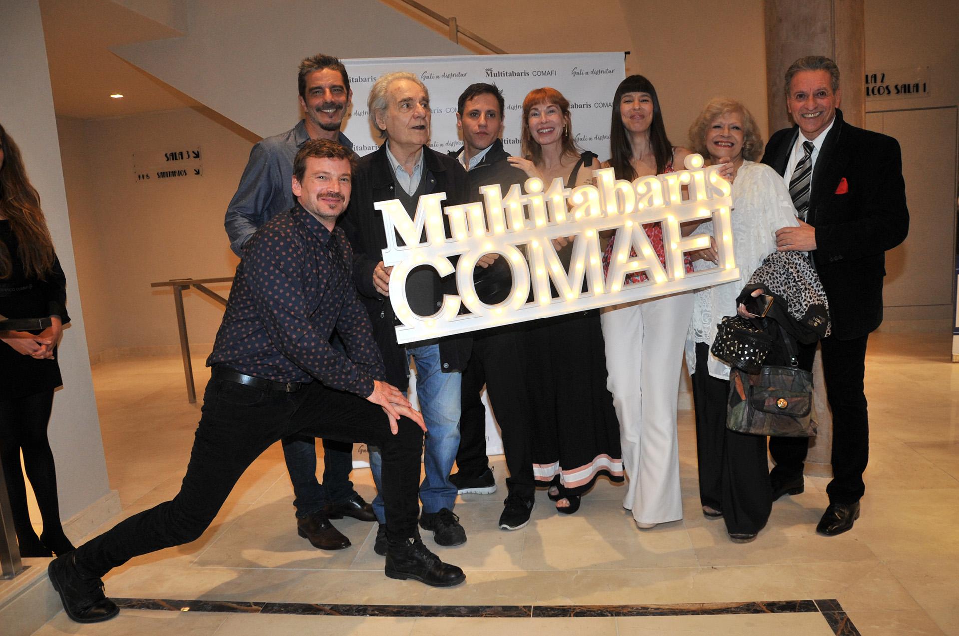"""El elenco de """"La Ratonera"""", una de las obras que se exhiben en el reinaugurado teatro"""