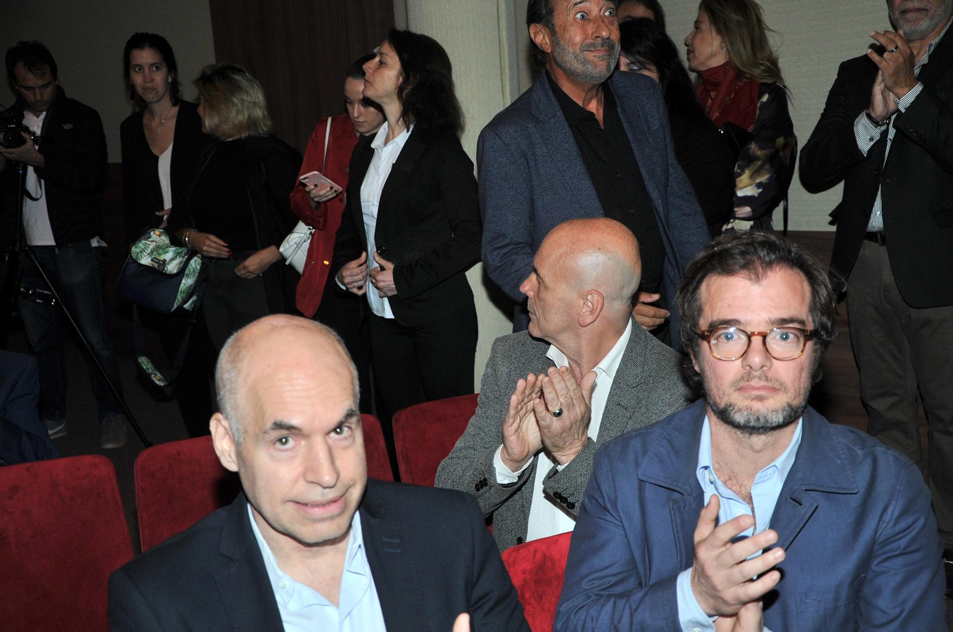 El jefe de Gobierno porteño, Horacio Rodríguez Larreta, junto a Enrique Avogadro, ministro de Cultura de la Ciudad