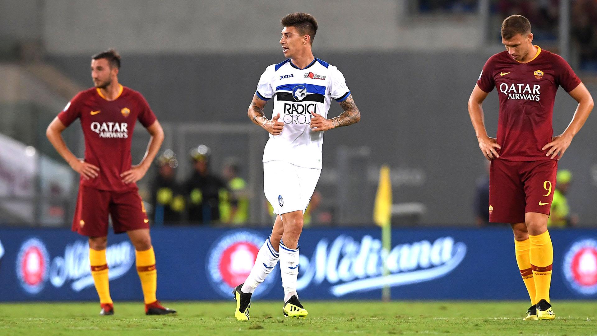 Rigoni celebra su gol ante la Roma, en agosto de 2019, por la Serie A de Italia (Foto: REUTERS/Alberto Lingria)