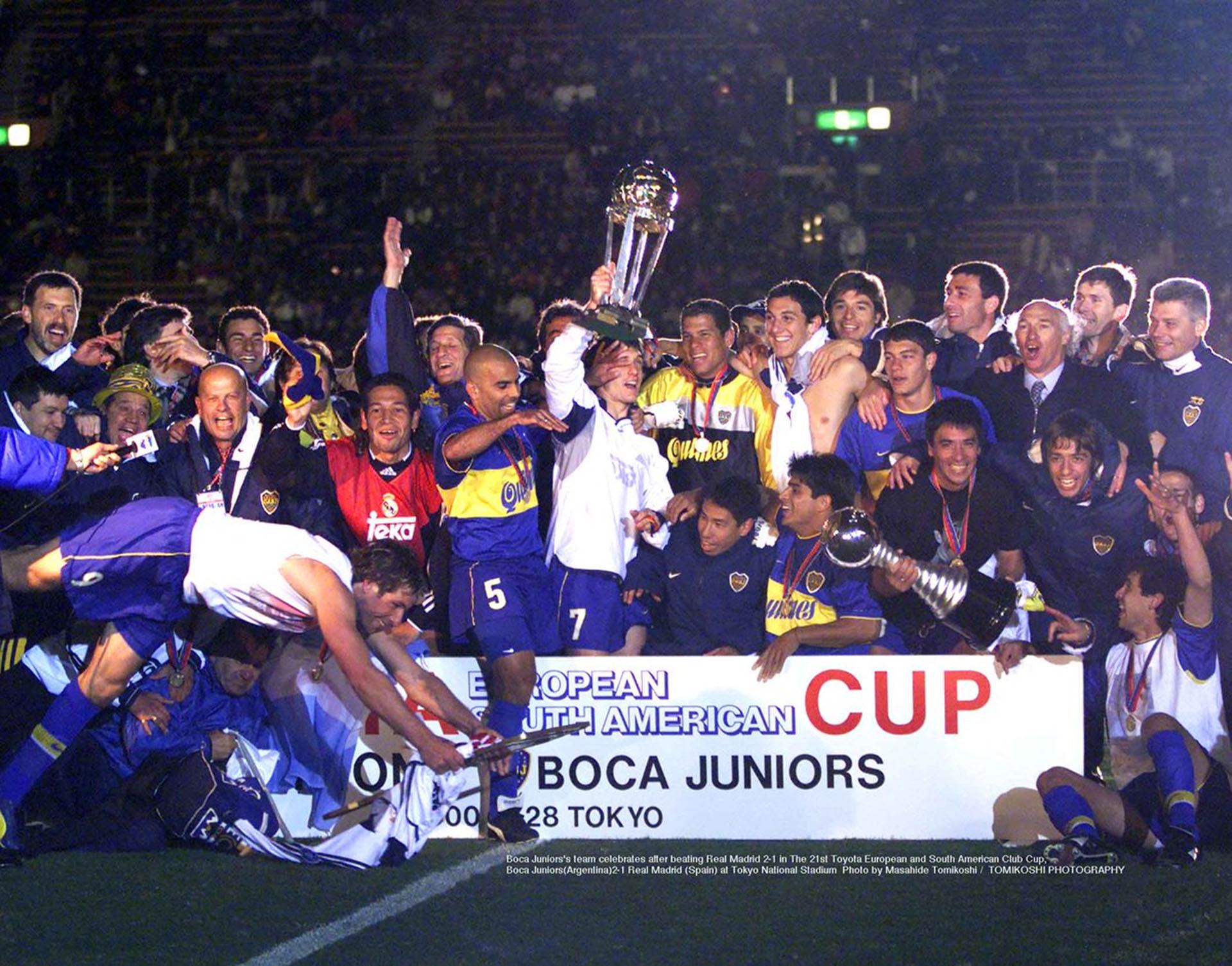 Boca celebra la obtención de la Intercontinental ante Real Madrid (Photo by Masahide Tomikoshi / TOMIKOSHI PHOTOGRAPHY @tphoto2005)