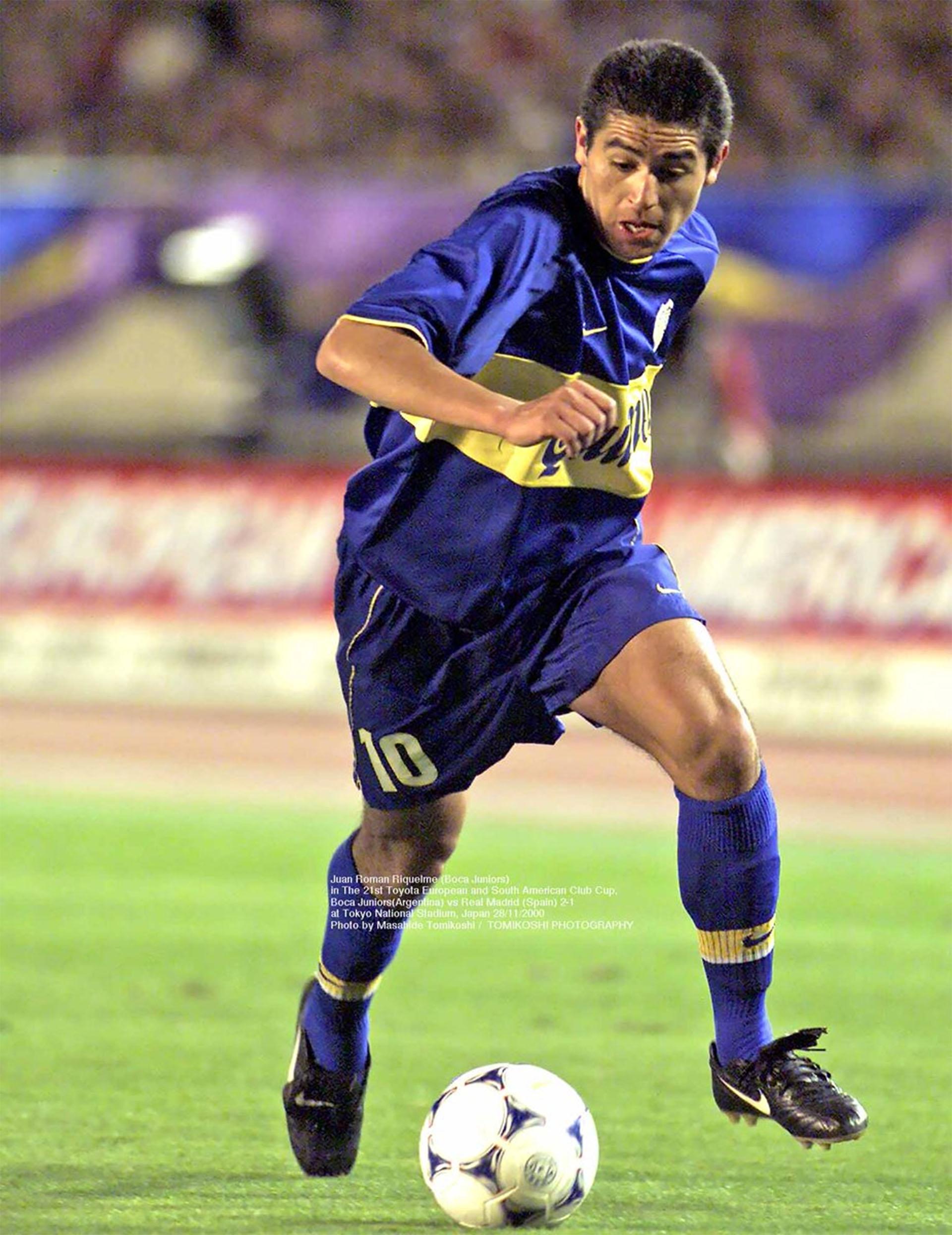 Juan Román Riquelme manejó los hilos de Boca ante Real Madrid (Photo by Masahide Tomikoshi / TOMIKOSHI PHOTOGRAPHY @tphoto2005)