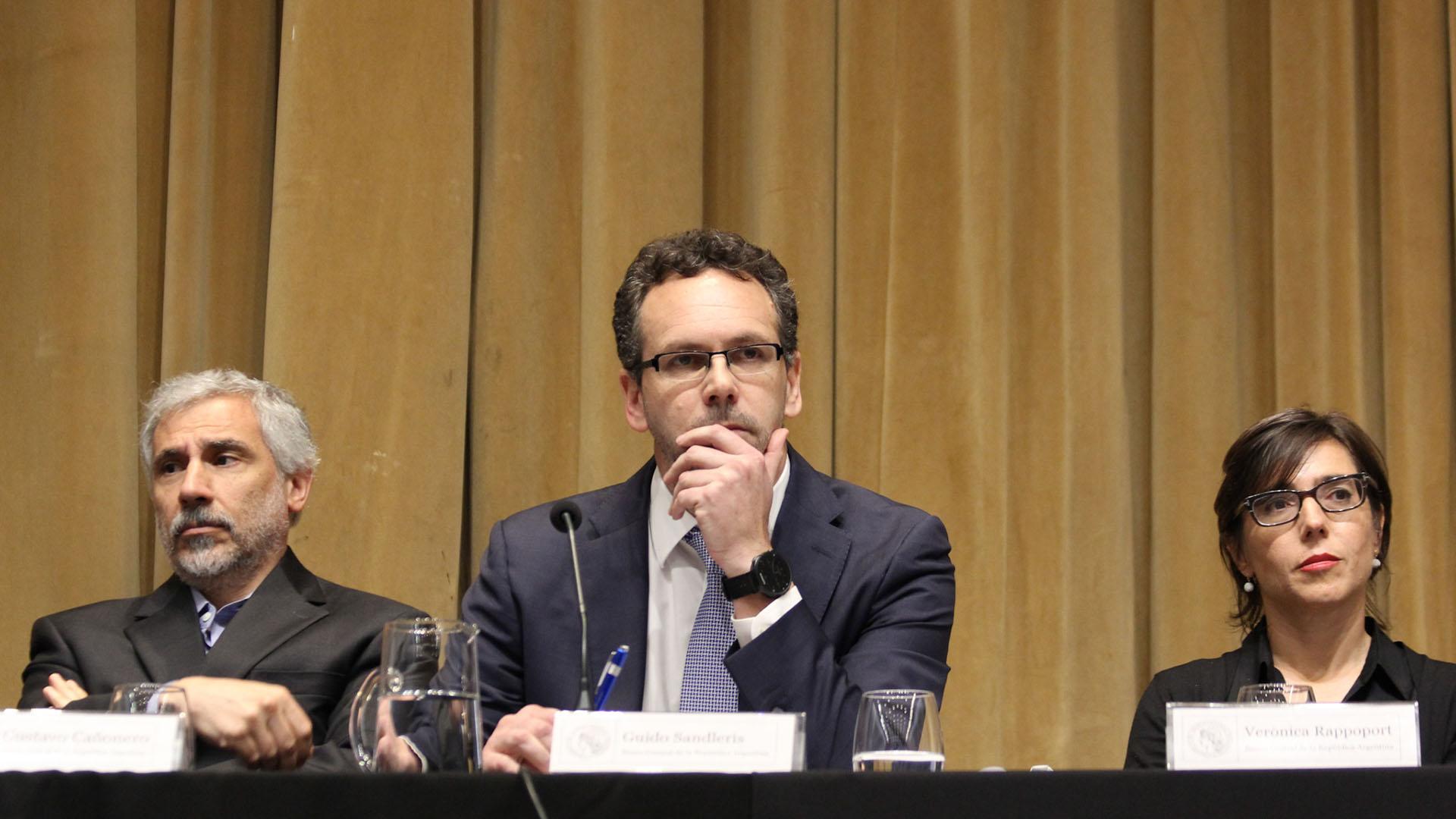 Guido Sandleris (centro), presidente del Banco Central. (Matías Baglietto)