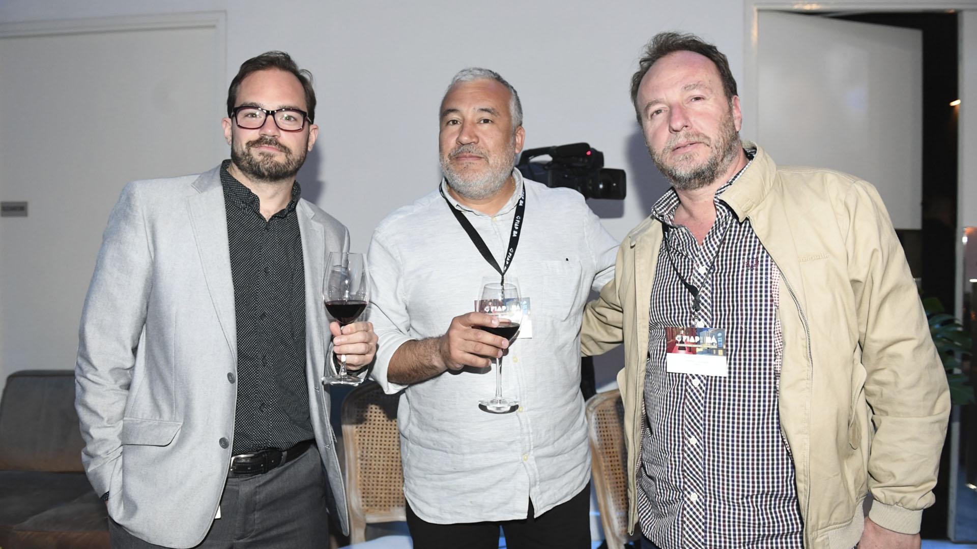 Marcelo Hermida (productora Sábado) Mariano Marin (empresa Dfilmco) y Claudio Córdoba, (productora Sábado)