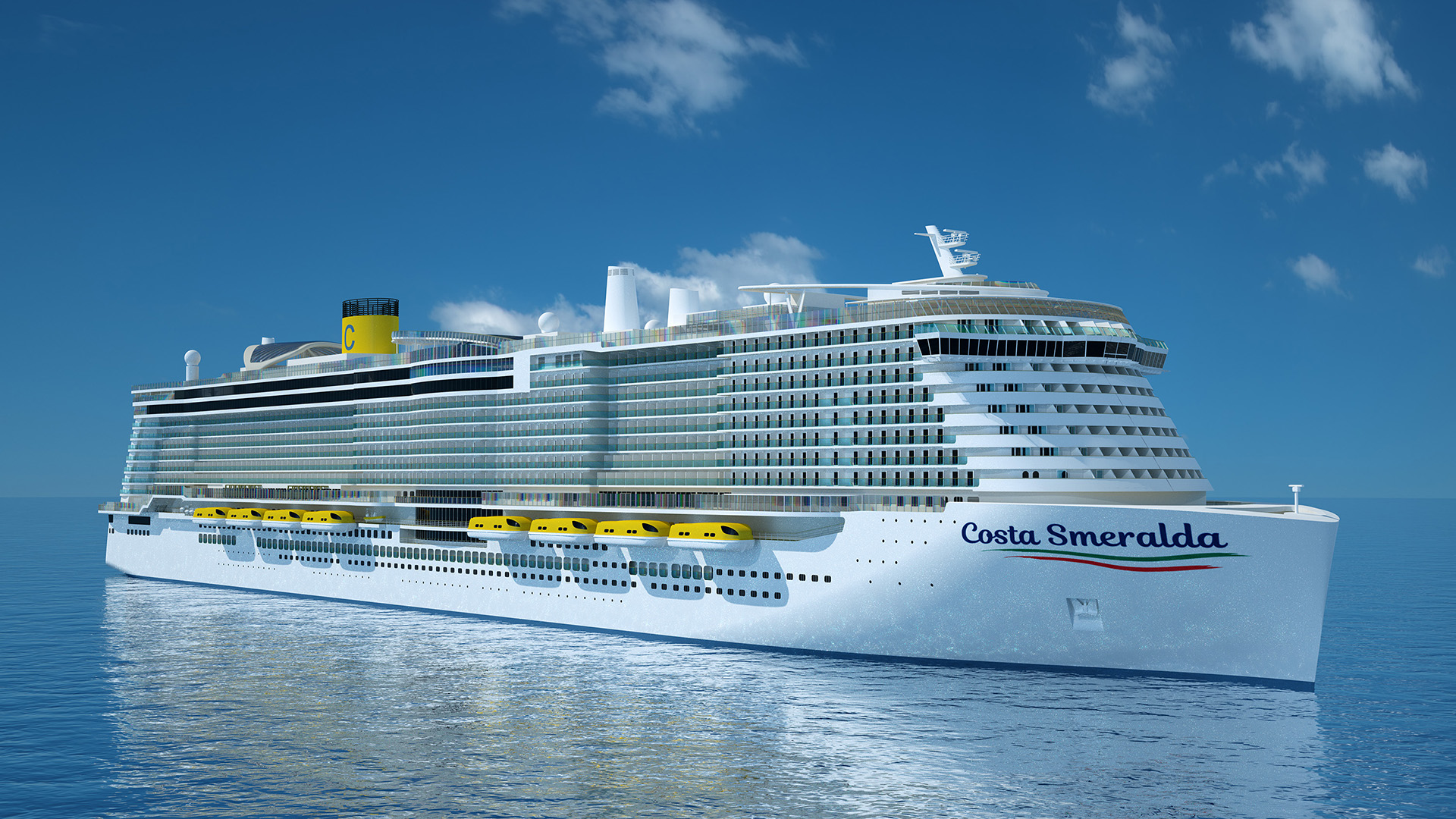 El Costa Smeralda será el nuevo buque insignia de la naviera italiana.