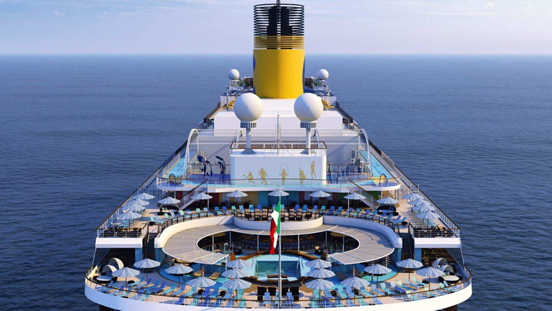 El costa Venezia es uno de los nuevos buques de la ampliación de la naviera italiana.