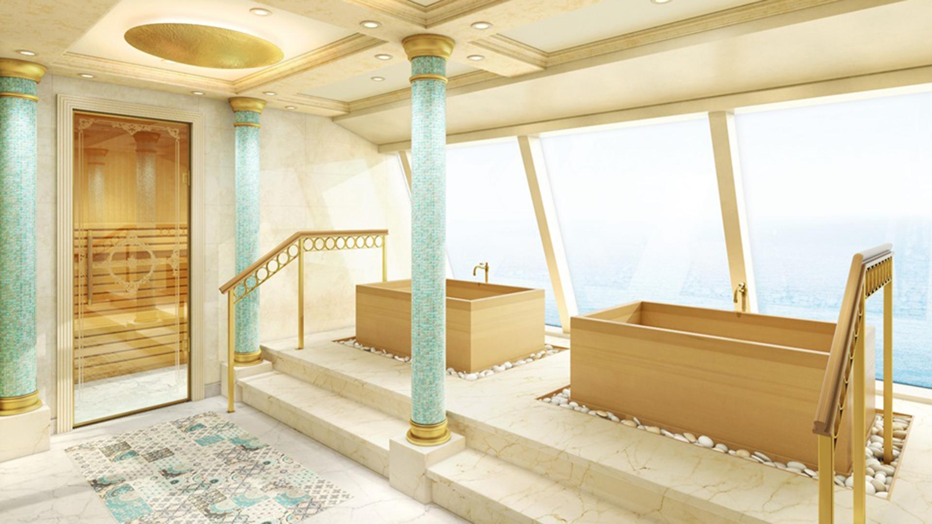 Interiores del costa Venezia.