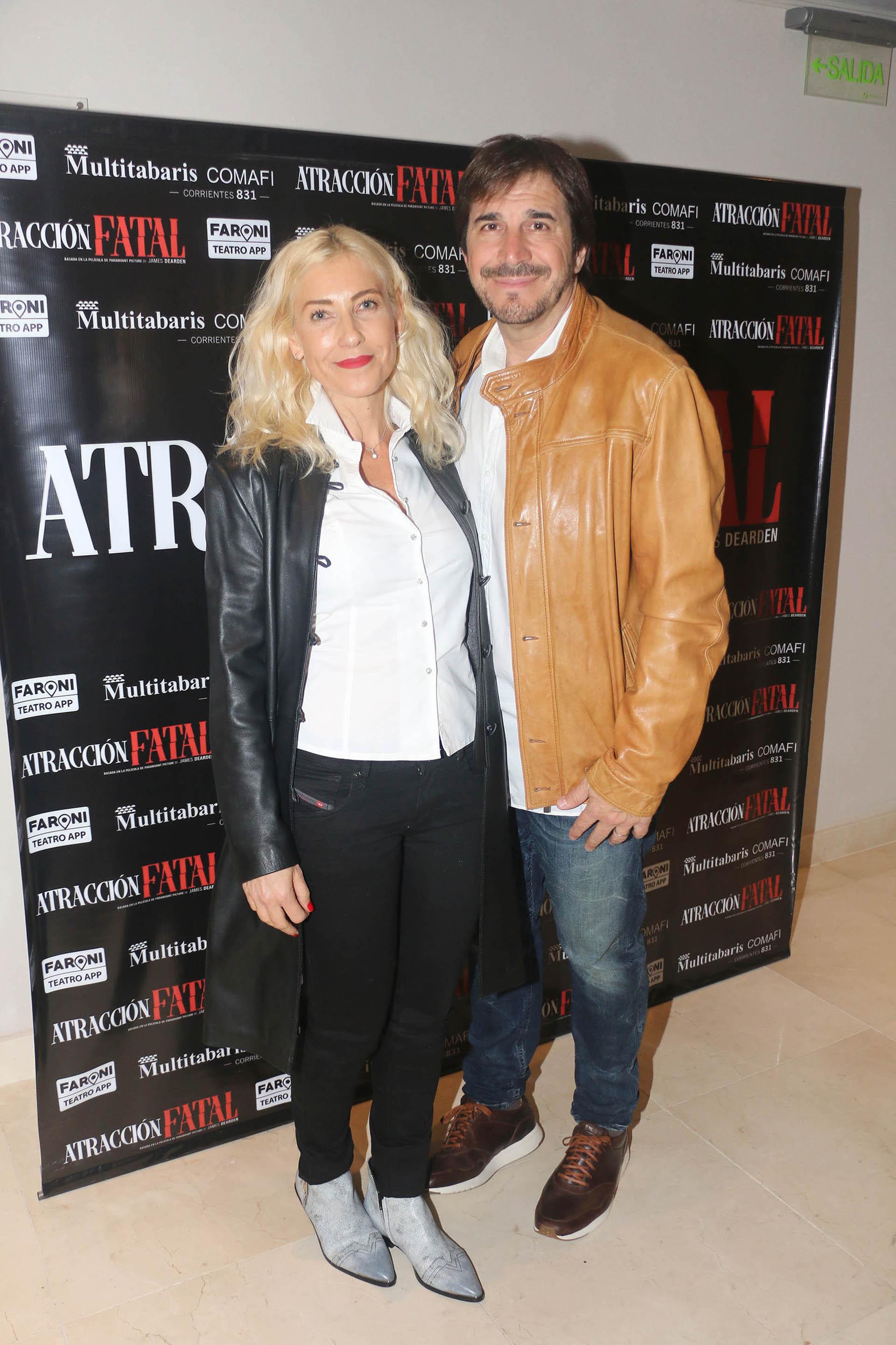 Javier Faroni y su mujer