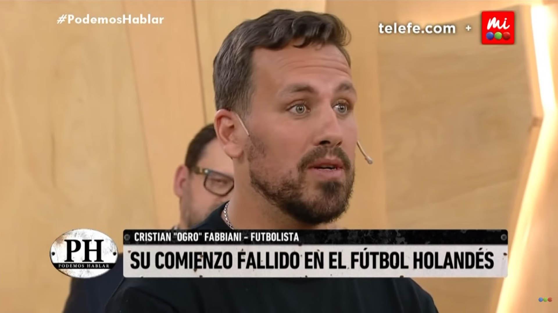 Cristian Fabbiani contó una anécdota poco conocida de sus inicios como futbolista