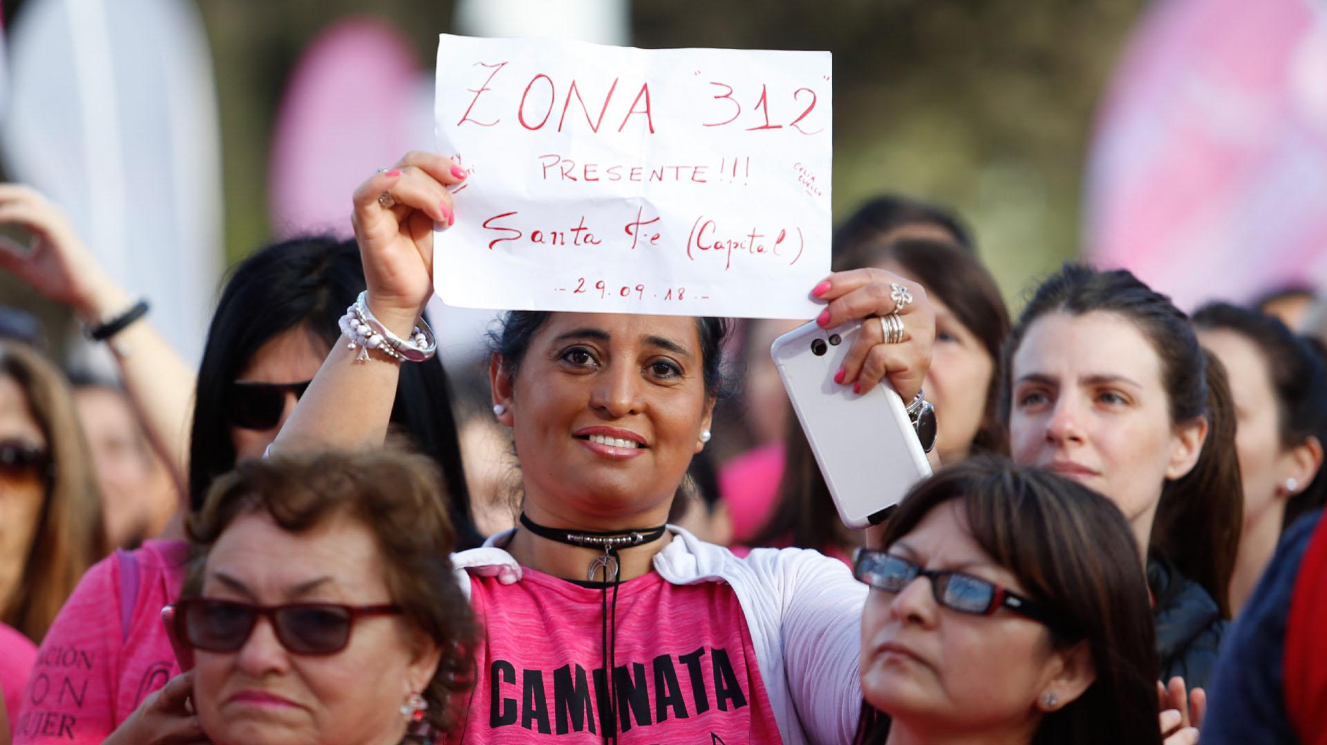 Mujeres de todo el paísllegaron hasta la capital bonaerense para formar parte del evento