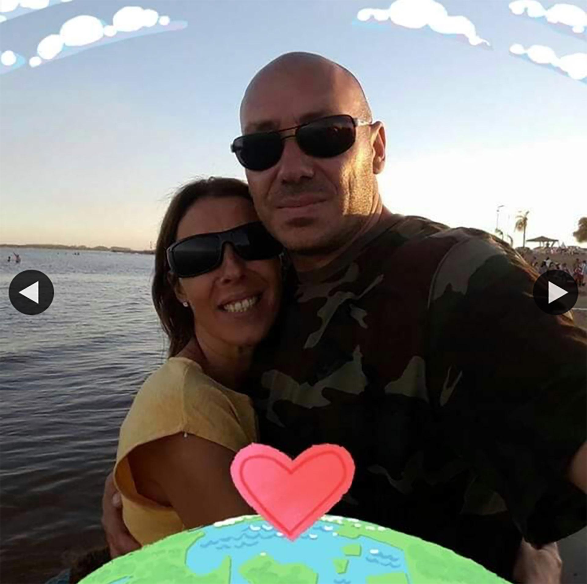 Damián Cutrera junto a su esposa