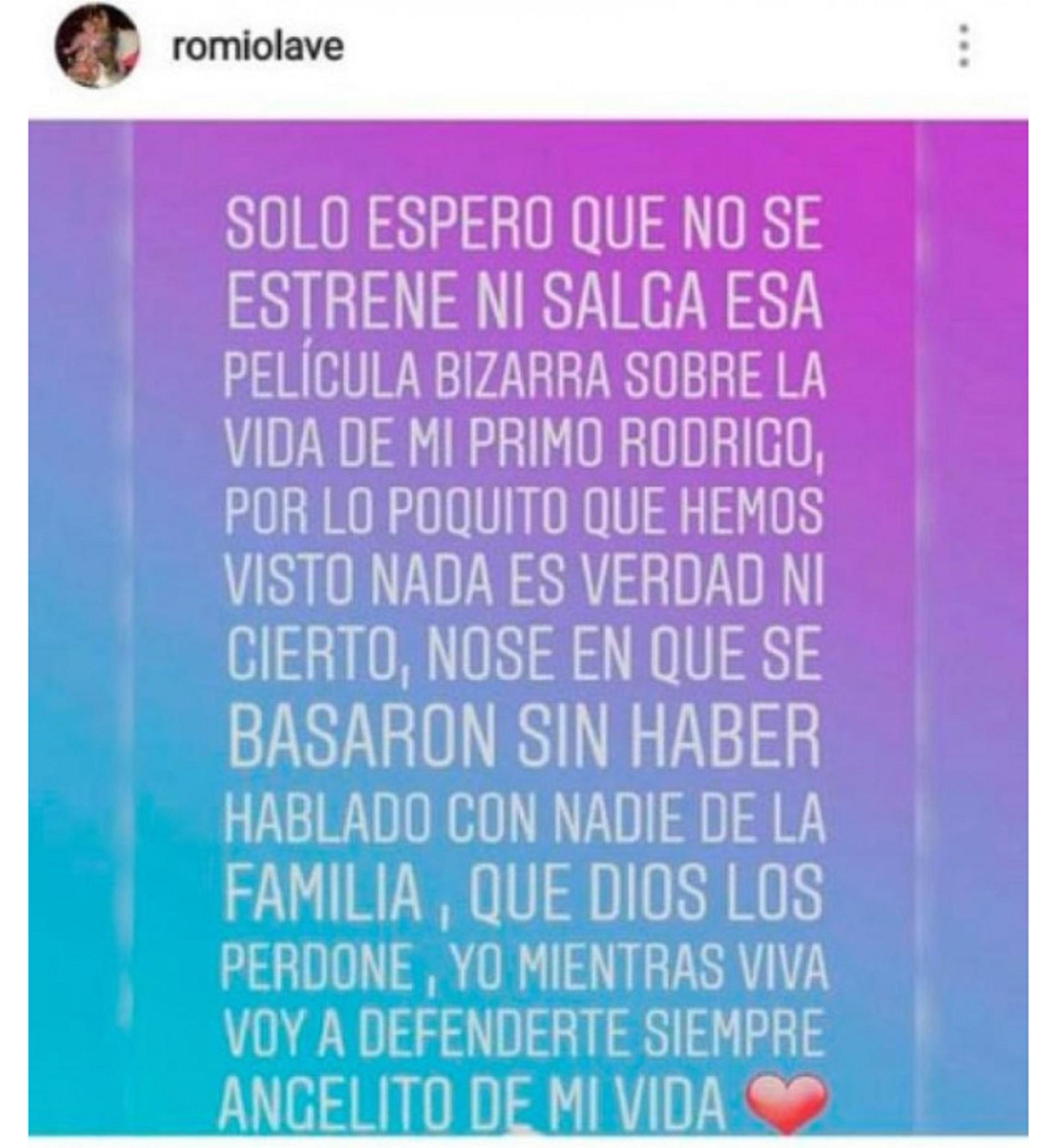 El mensaje de Romina, la prima de Rodrigo Bueno