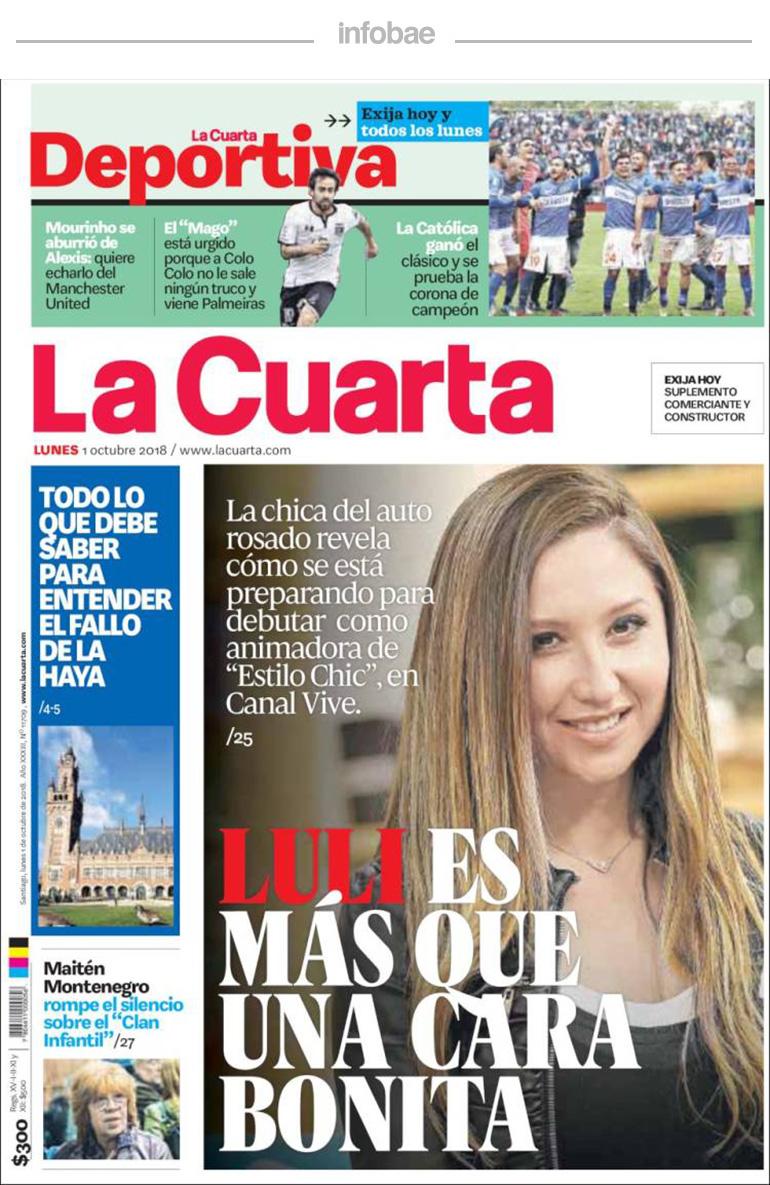 La Cuarta, Chile, 2 de octubre de 2018 | Aires de la Ciudad