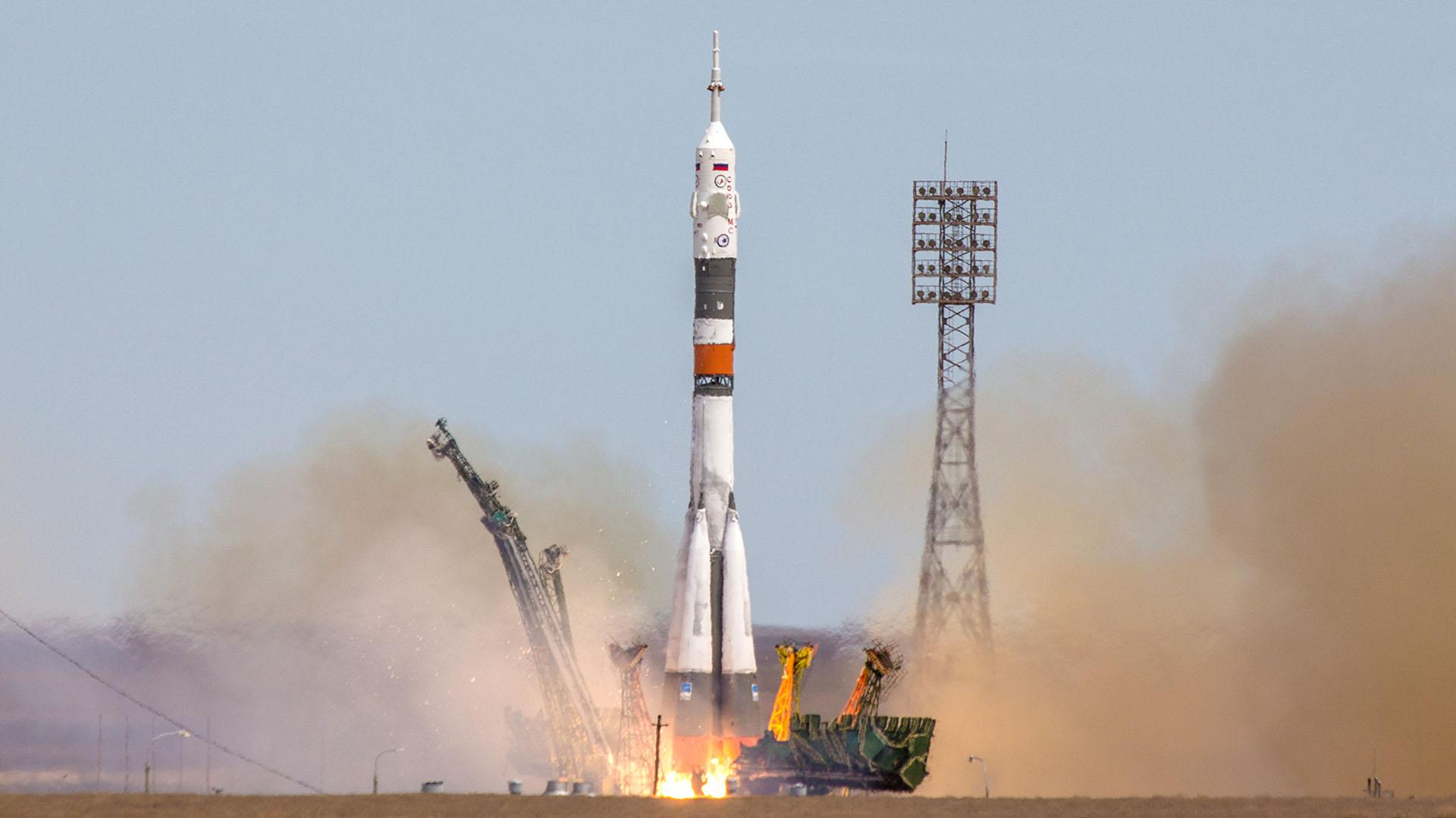 Kazajistán es sede del Cosmódromo Baikonur, el principal de la agencia espacial rusa Roscosmos y estación de partida de los astronautas de todo el mundo (Getty)