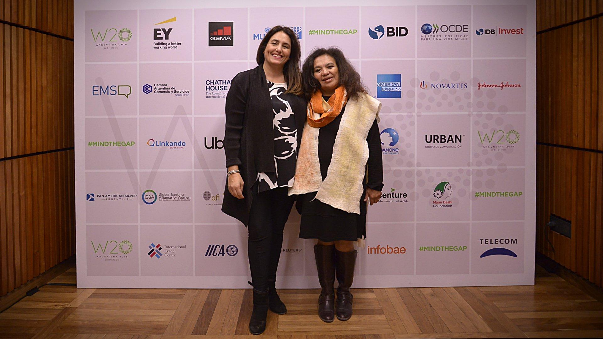Magda Choque Vilca, de la Universidad Nacional de Jujuy; y Verónica Cheja, Ceo y fundadora de Urban Grupo de Comunicación