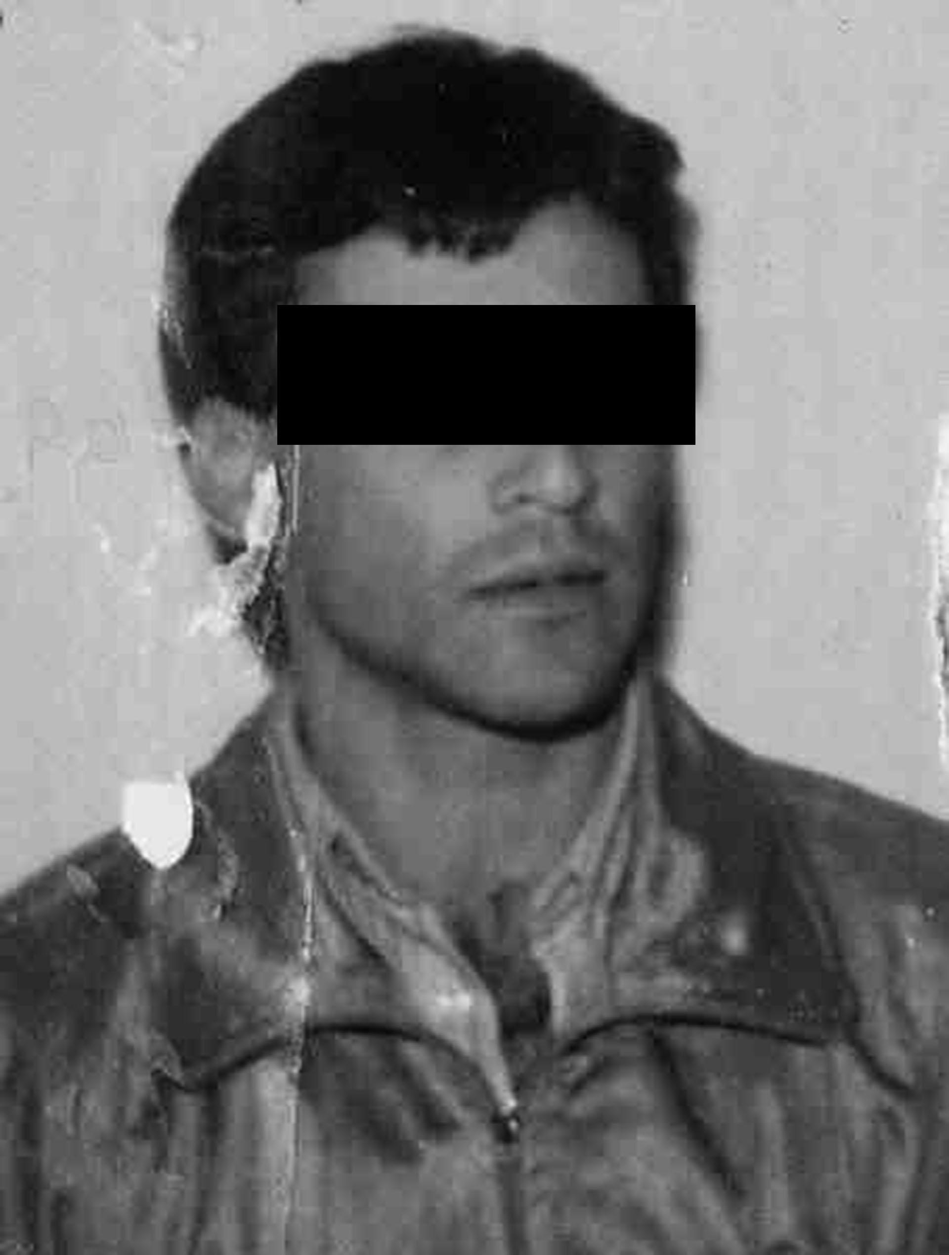 """""""Pizzita"""" a comienzos de los 90, en una de sus primeras fotos policiales."""