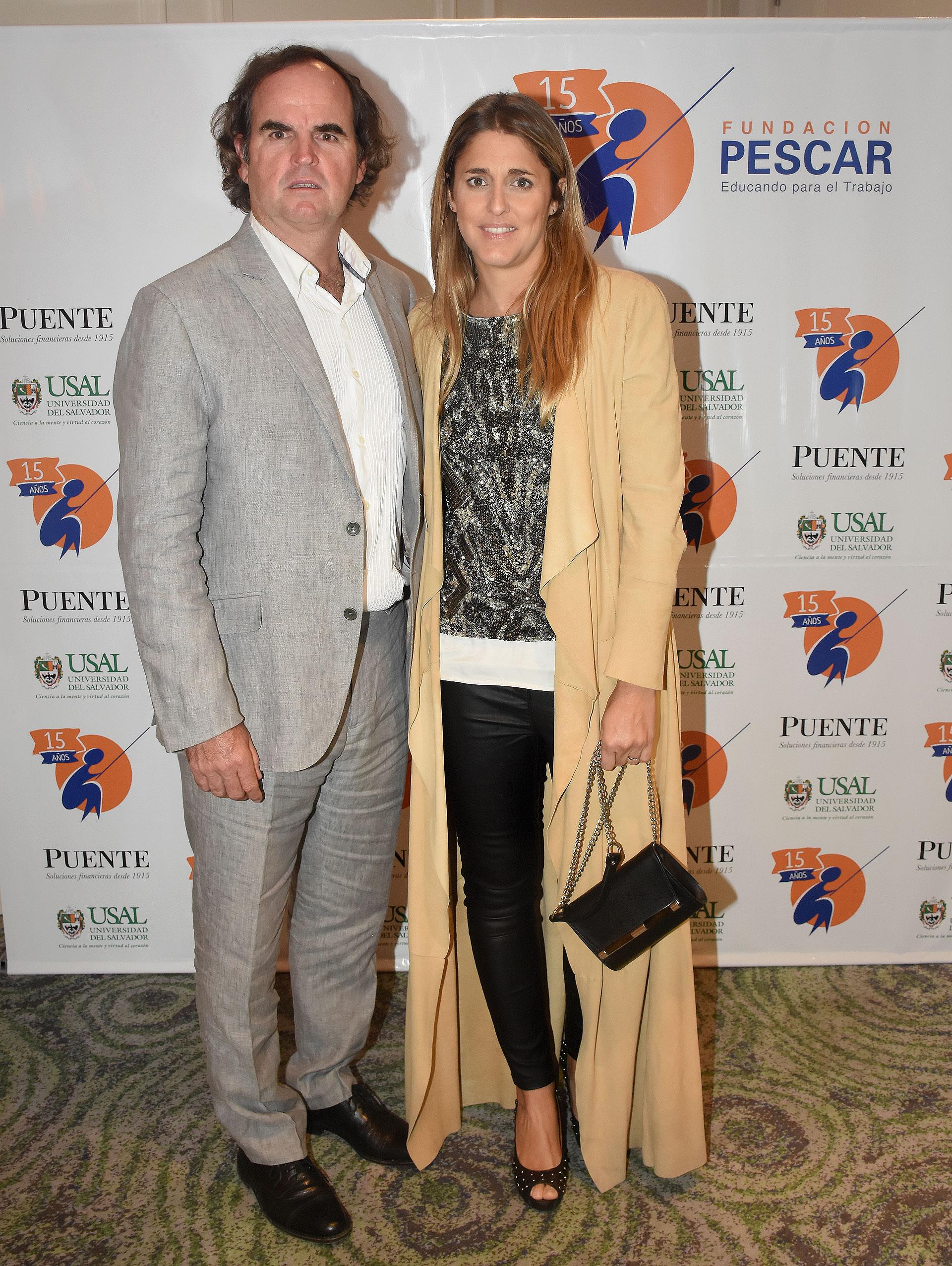 El polista Eduardo Heguy y su mujer Paz Manau