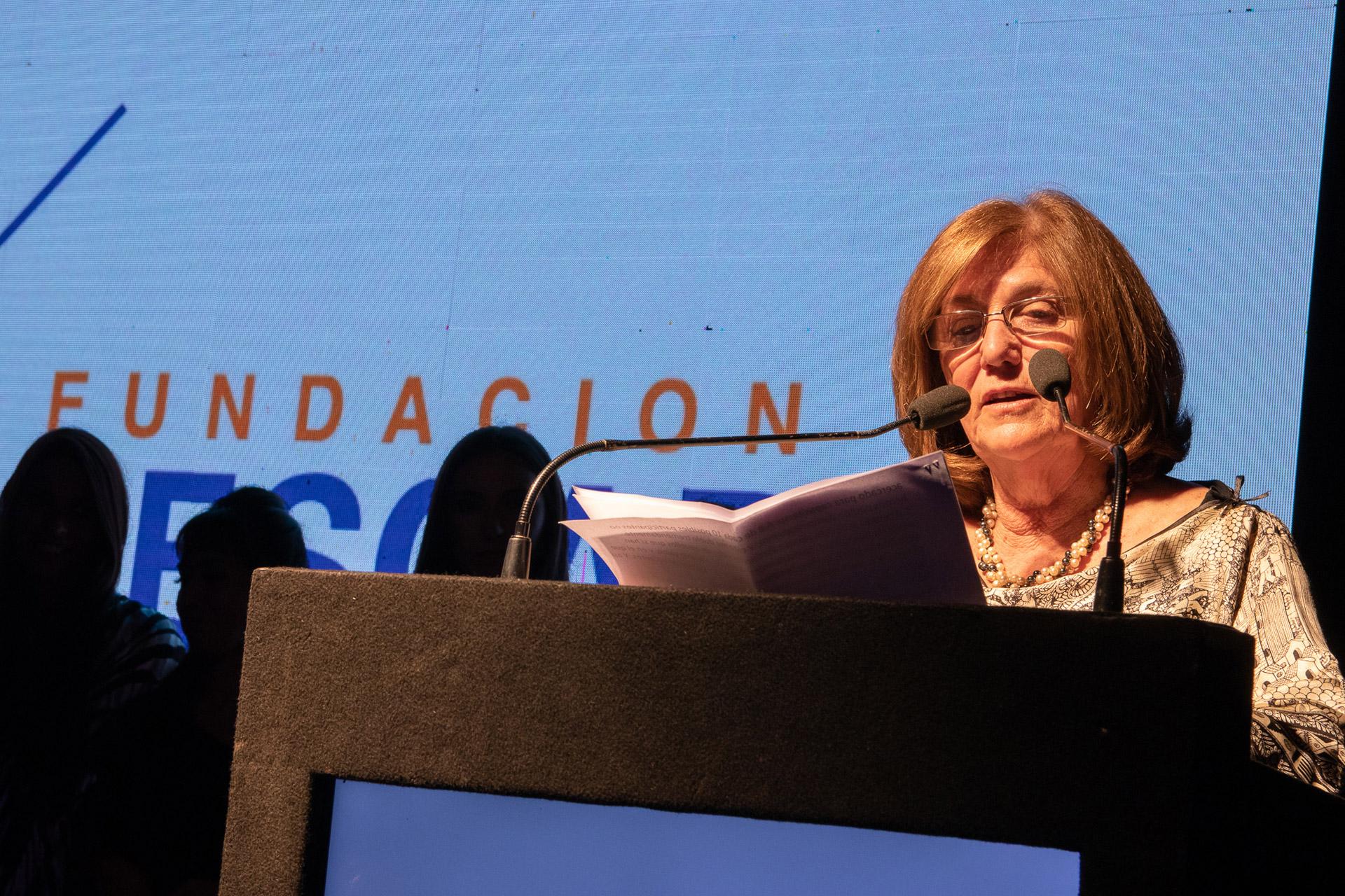 El discurso de Silvia Uranga, directora de la Fundación Pescar, una organización de la sociedad civil cuyo objetivo principal es formar a personas en situación de vulnerabilidad, para que puedan insertarse en el mundo del trabajo y diseñar un proyecto de vida realista