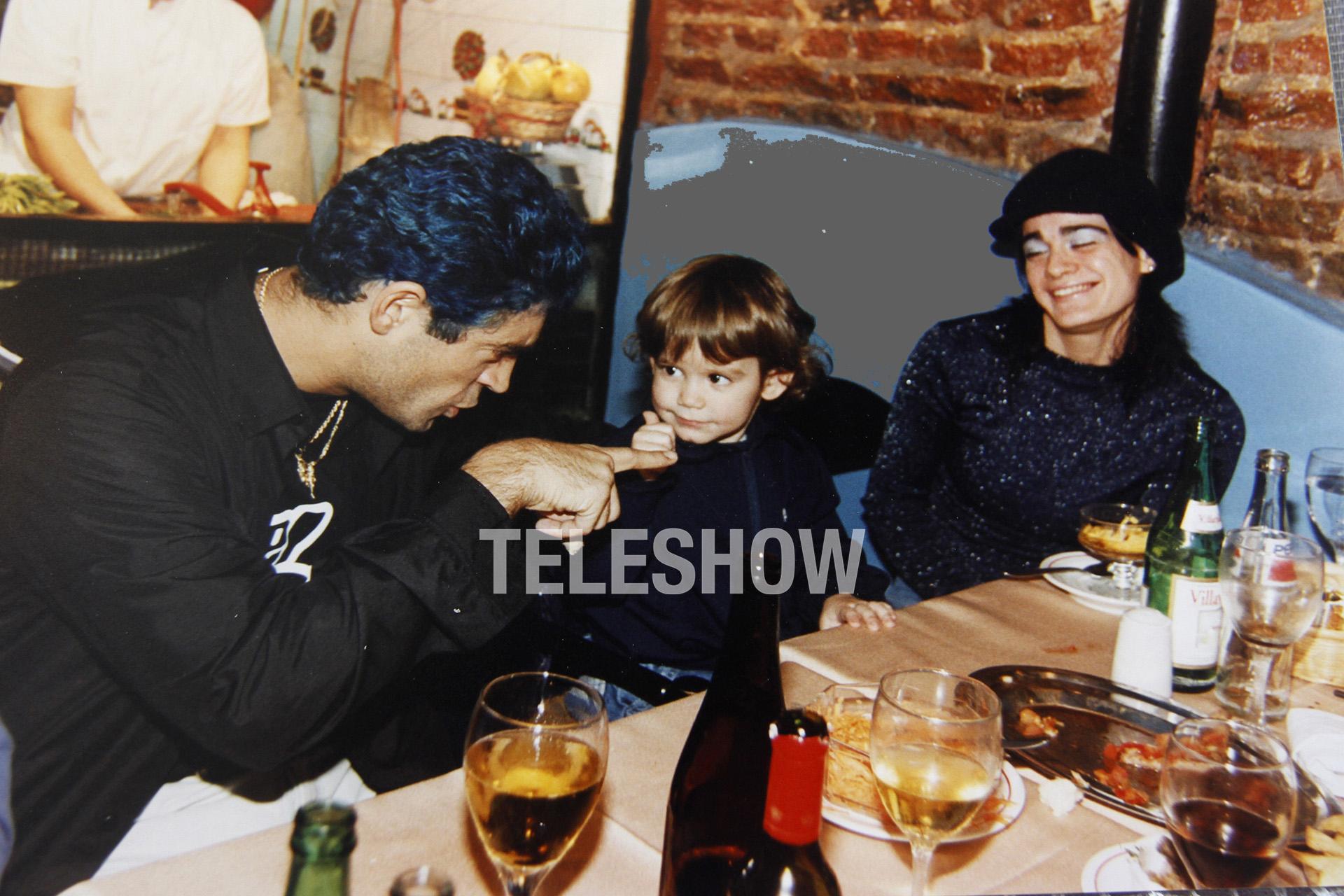 Antes del último show, Rodrigo comió con su hijo Ramiro y Patricia Pacheco (Sergio Lapietra)