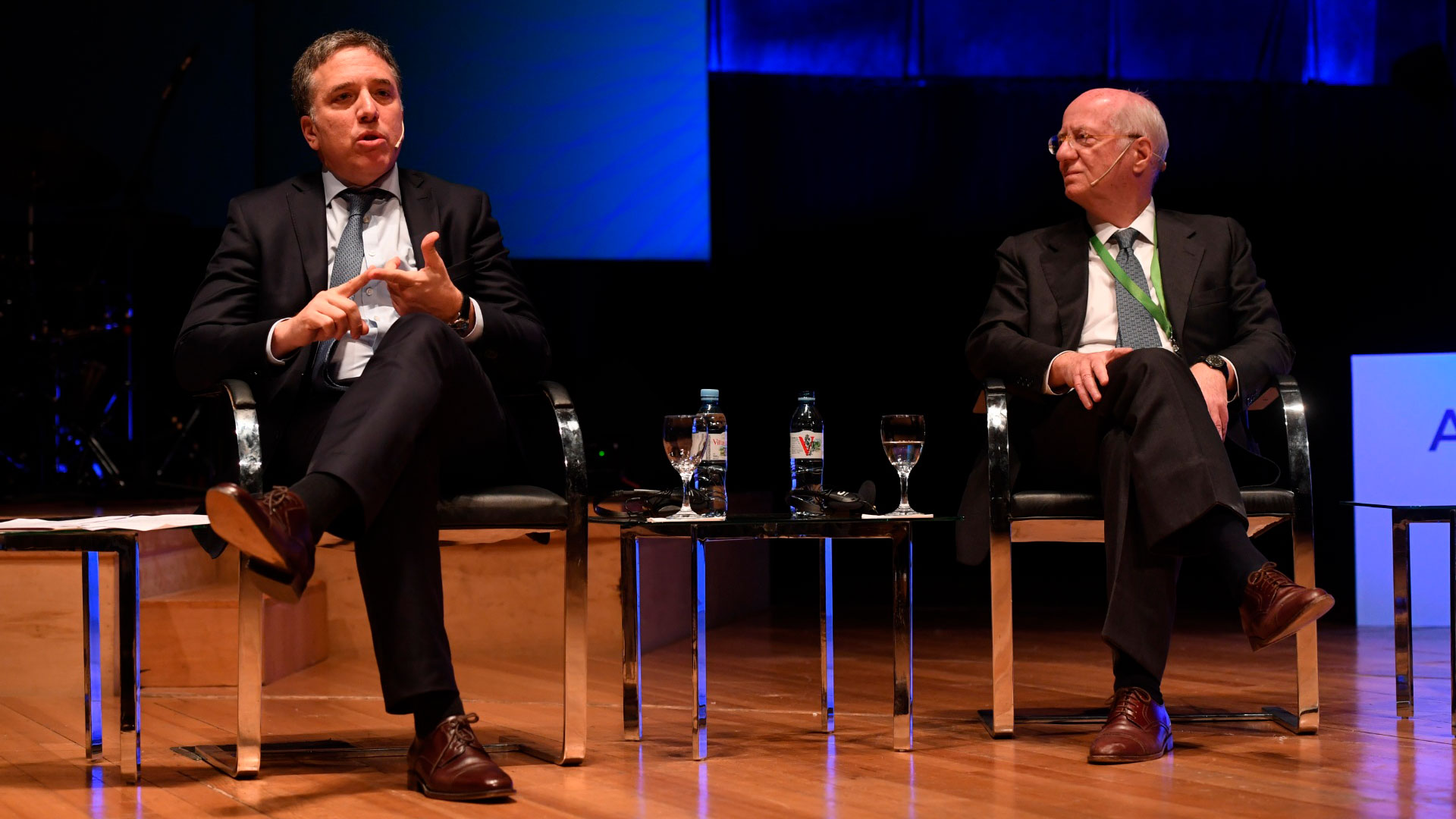 Nicolás Dujovne compartió el escenario con Paolo Rocca (Maximiliano Luna)
