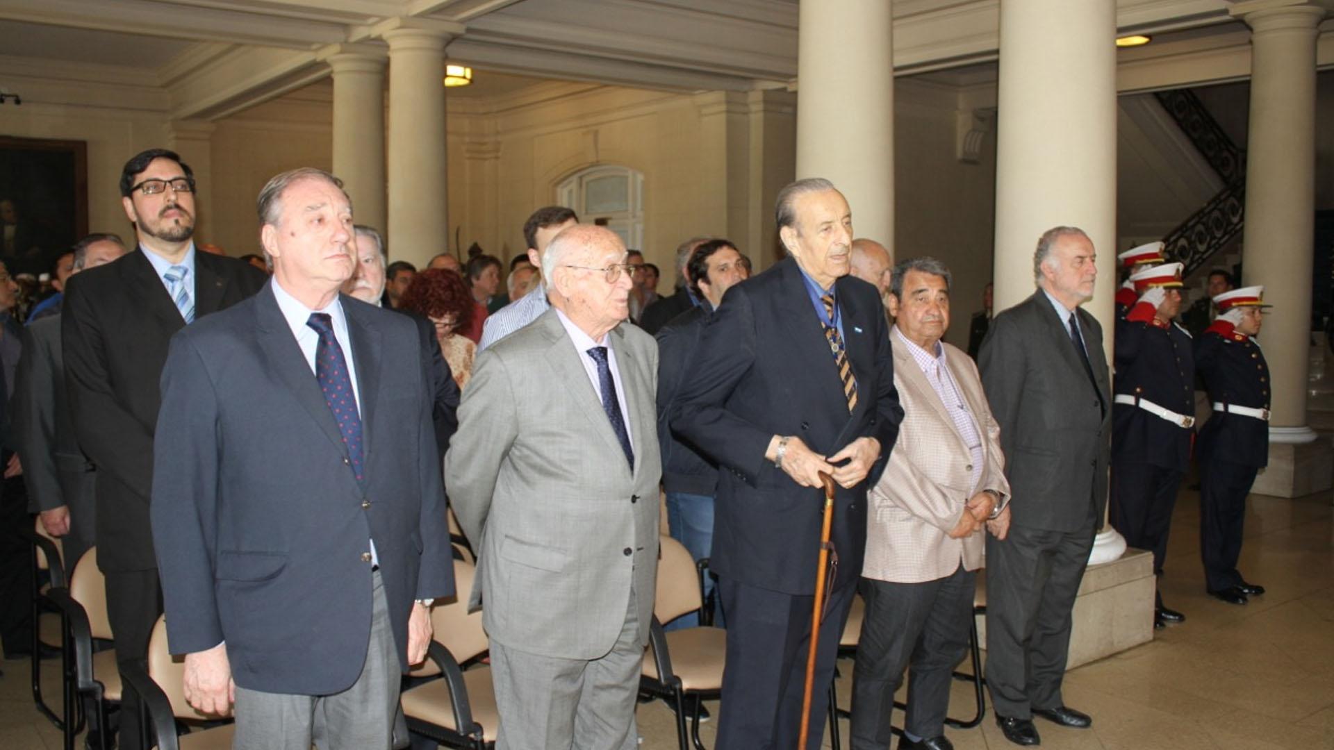 El homenaje a Perón tuvo lugar en el Salón de Honor del Colegio Militar de la Nación
