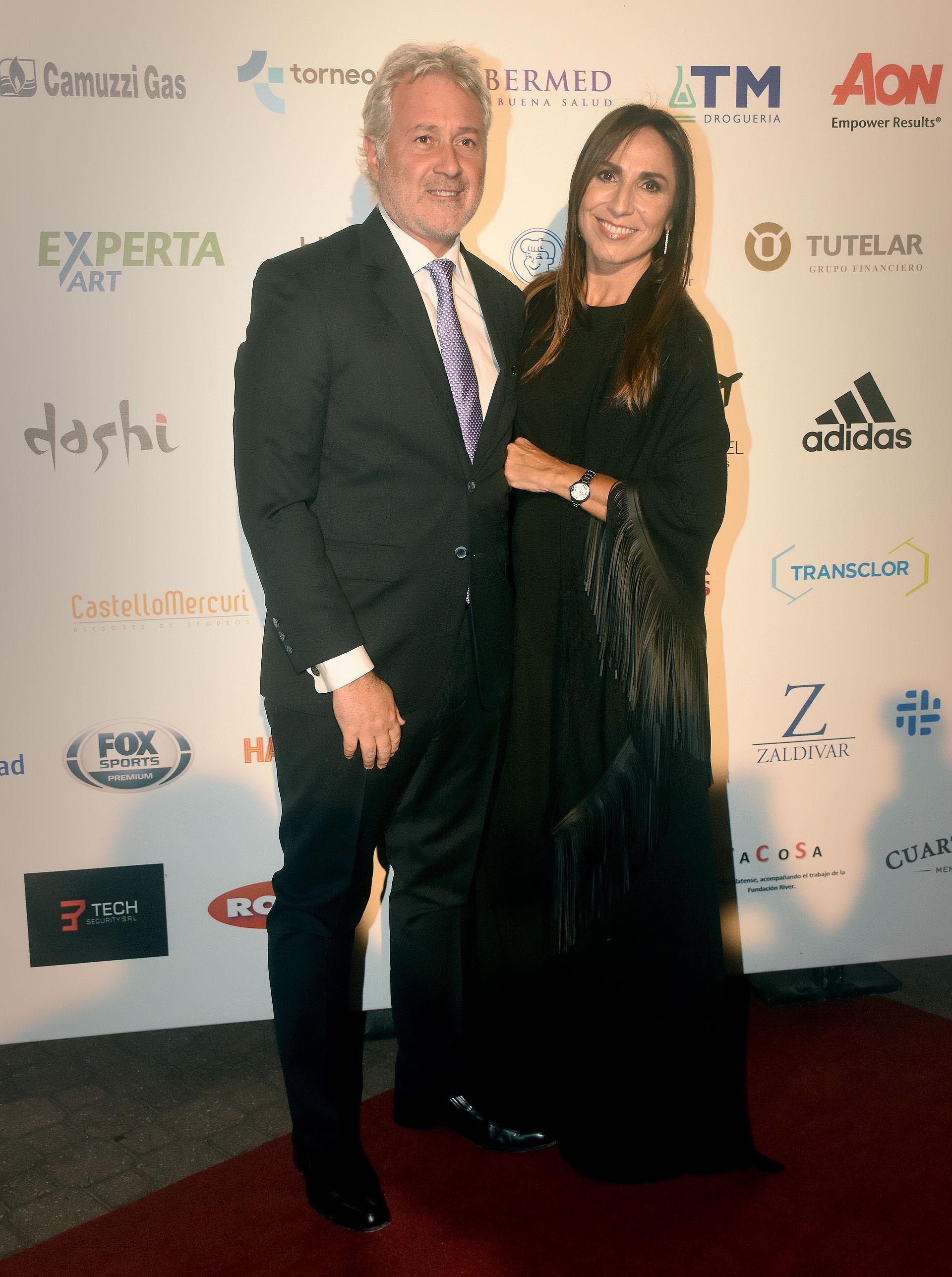 Matías Patanian, CEO de Aeropuertos Argentina 2000 y ex vicepresidente de River, junto a su mujer Karina