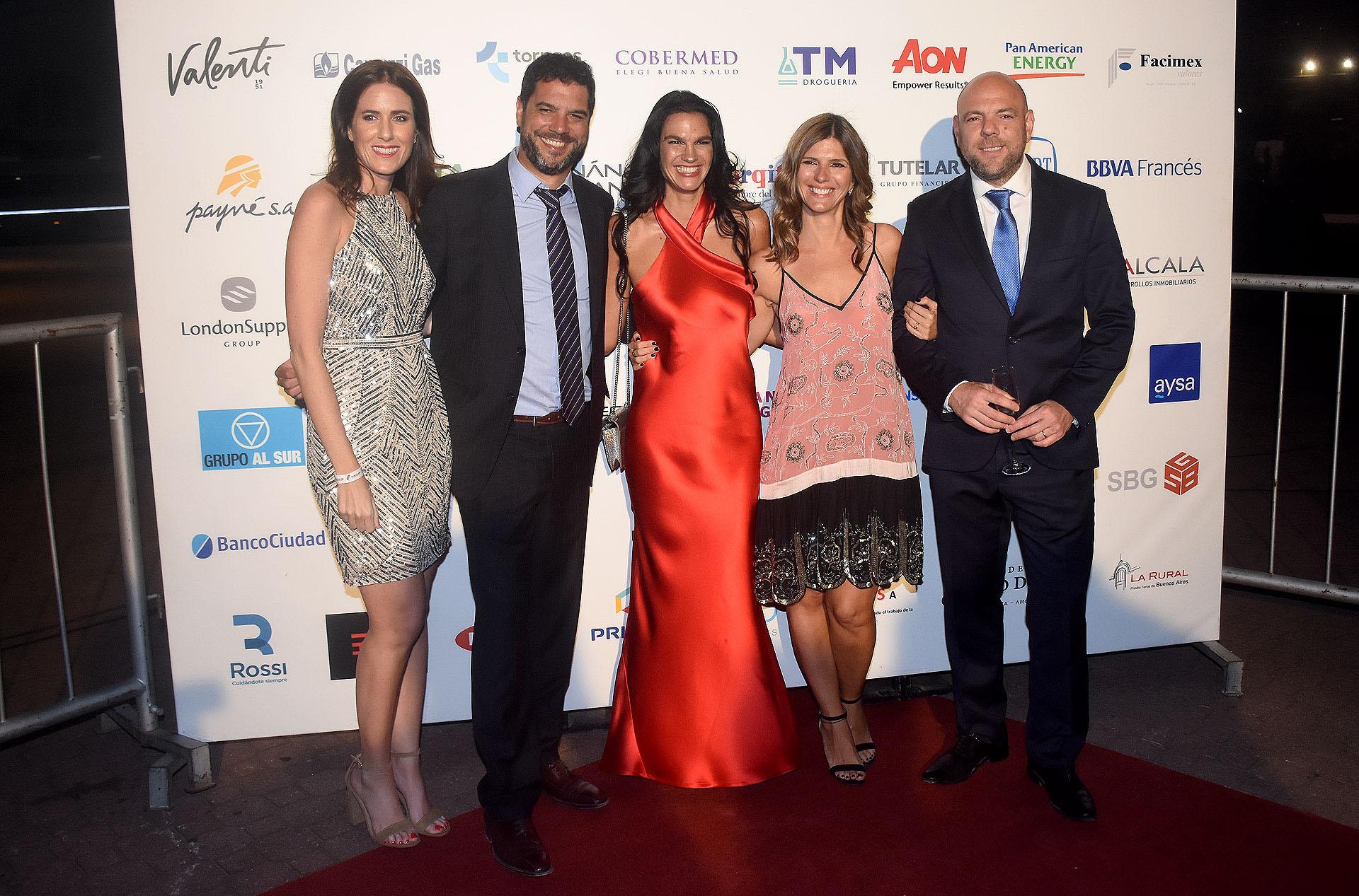 Clara D'Onofrio, Sebastián Pérez Escobar, Gabriela Vaca Guzmán, Dolores Irigoin y Horacio Ferreccio, vocal de la Fundación River