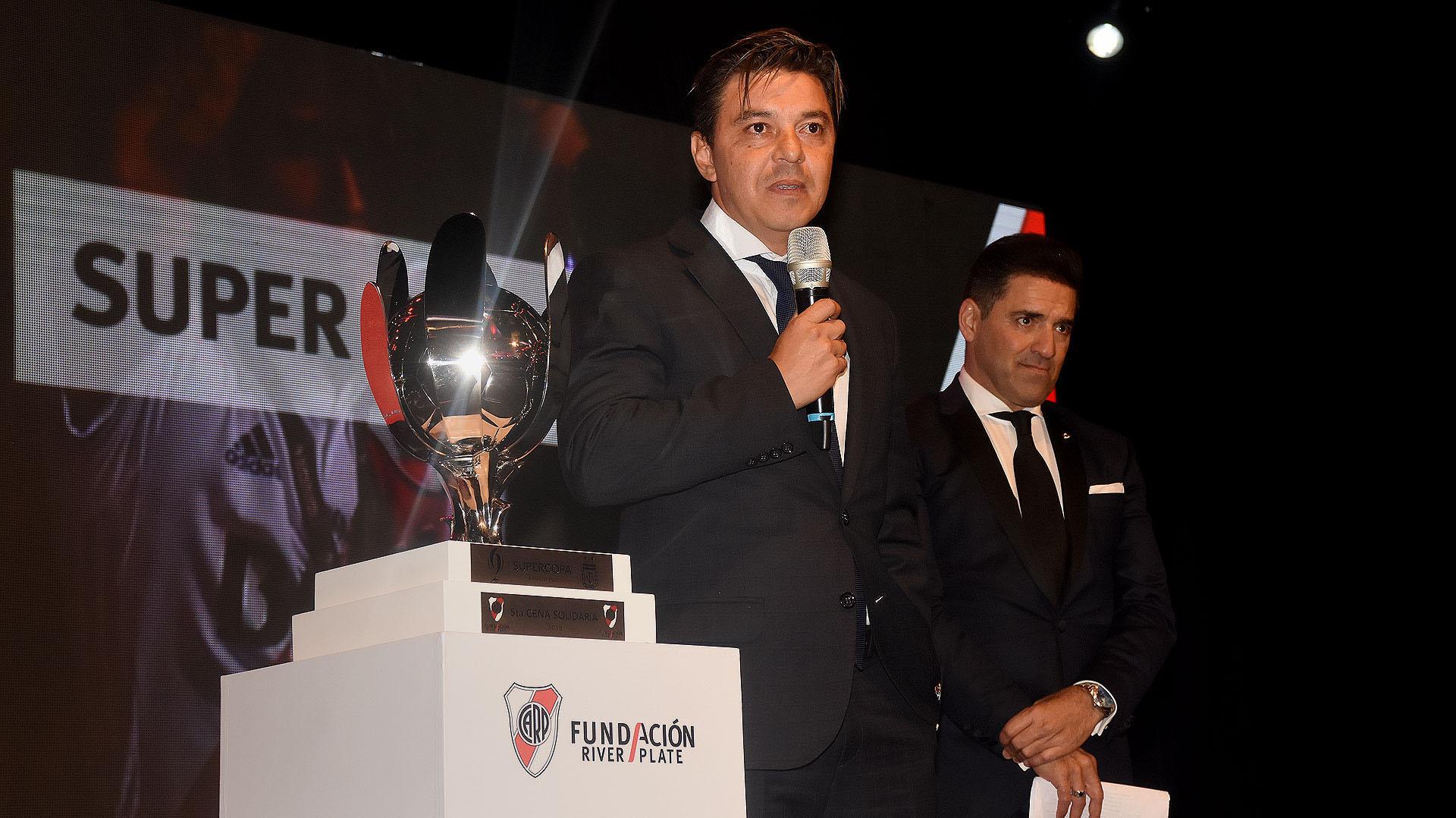 El entrenador de River, Marcelo Gallardo