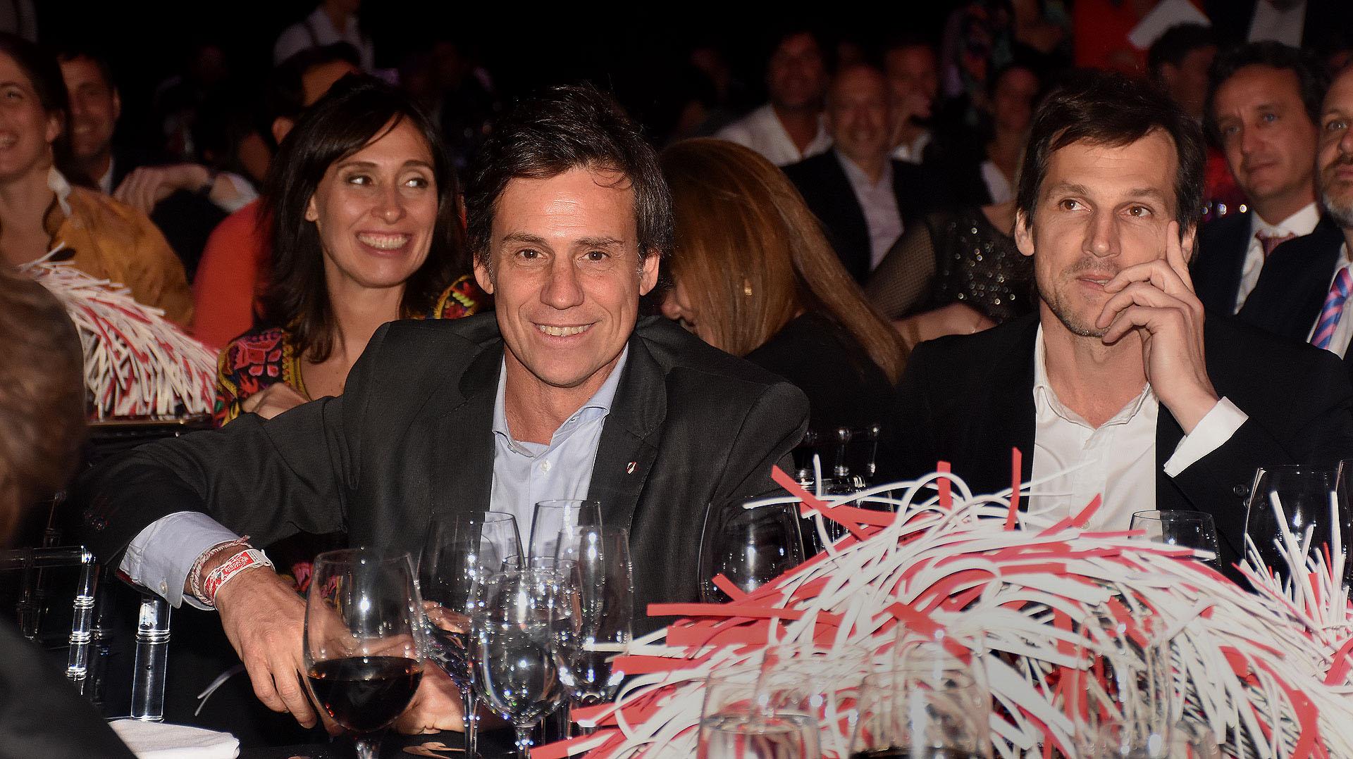 Santiago Poblet Videla, presidente de Relaciones Públicas de River y vocal titular; y Cruz Pereyra Lucena