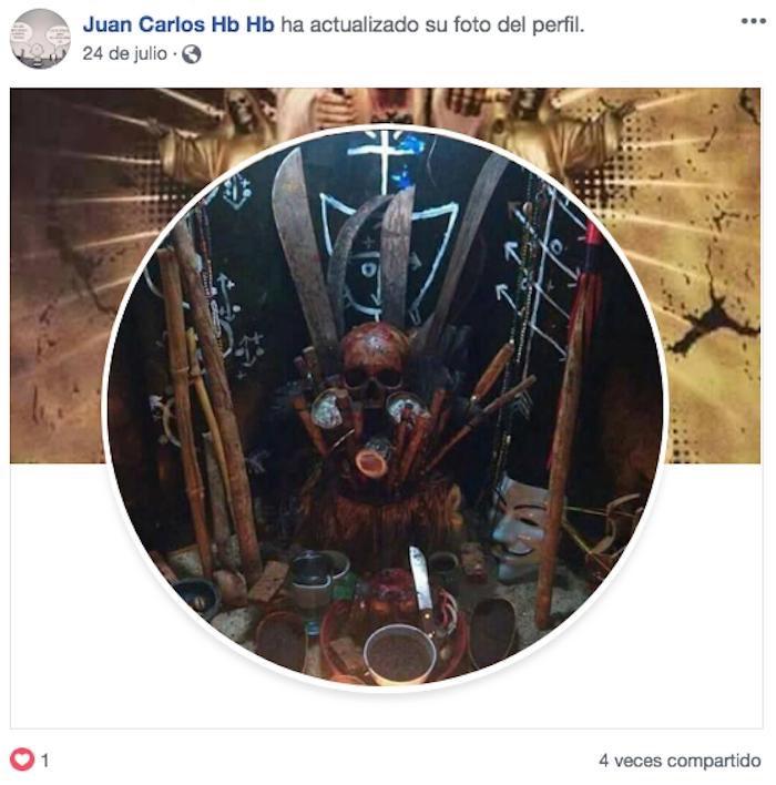 Imágenes del Facebook del asesino.