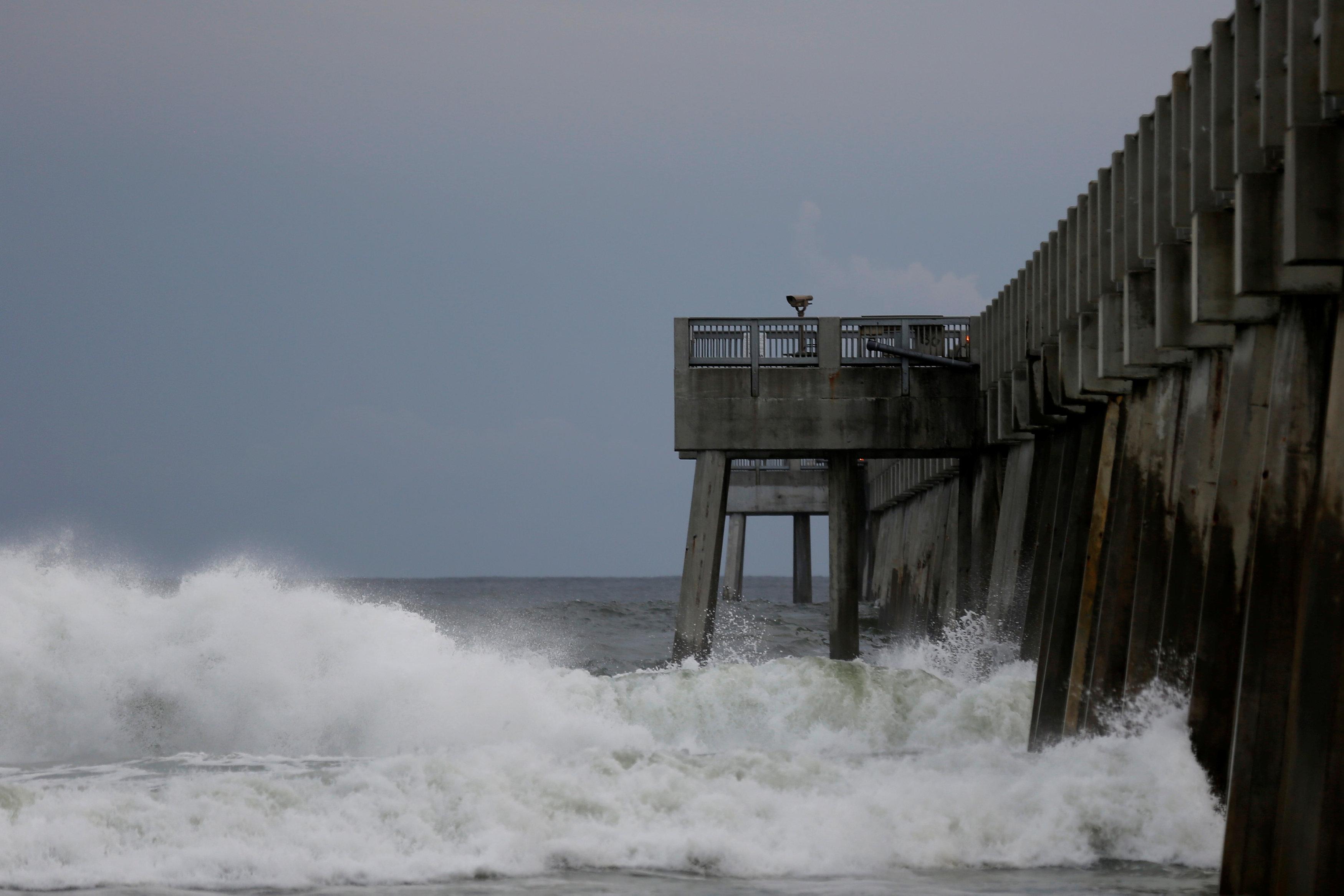 Las olas en Panama City Beach, Florida