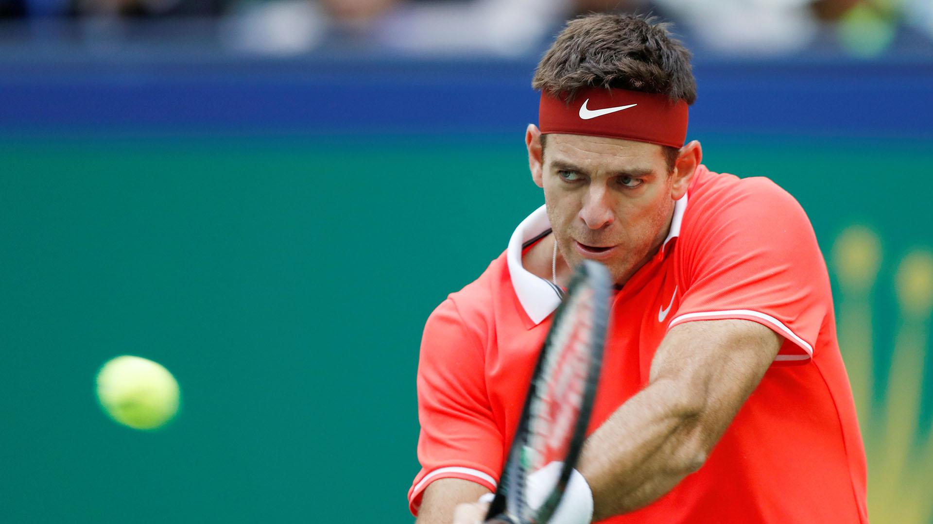 Juan Martín del Potro se despidió en octavos de final del Masters 1000 de Shanghai (Reuters)