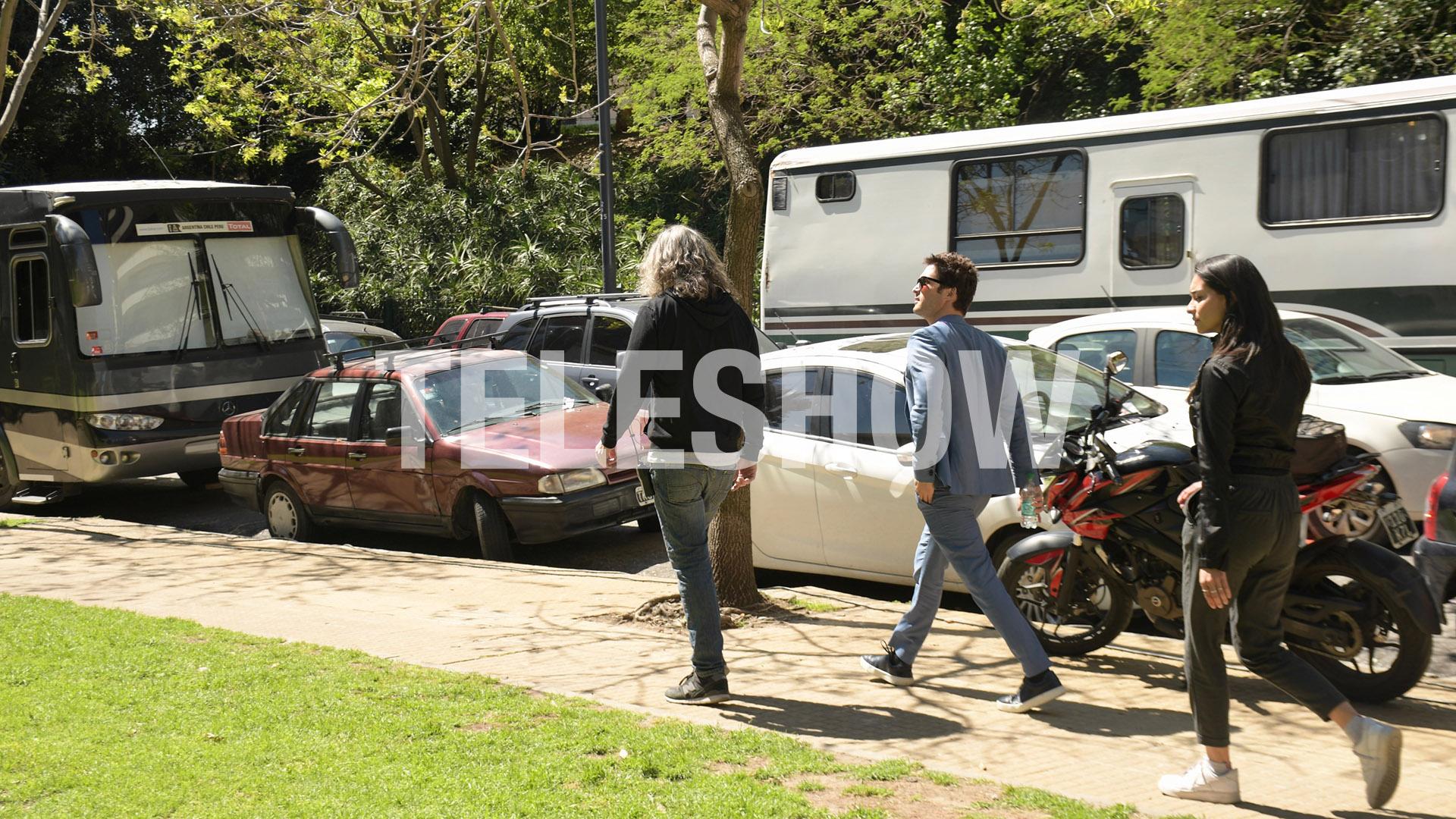 En las próximas horas, el actor se irá de Argentina ya que su compromiso en Buenos Aires fue para filmar el comercial(Verónica Guerman y China Soler / Teleshow)