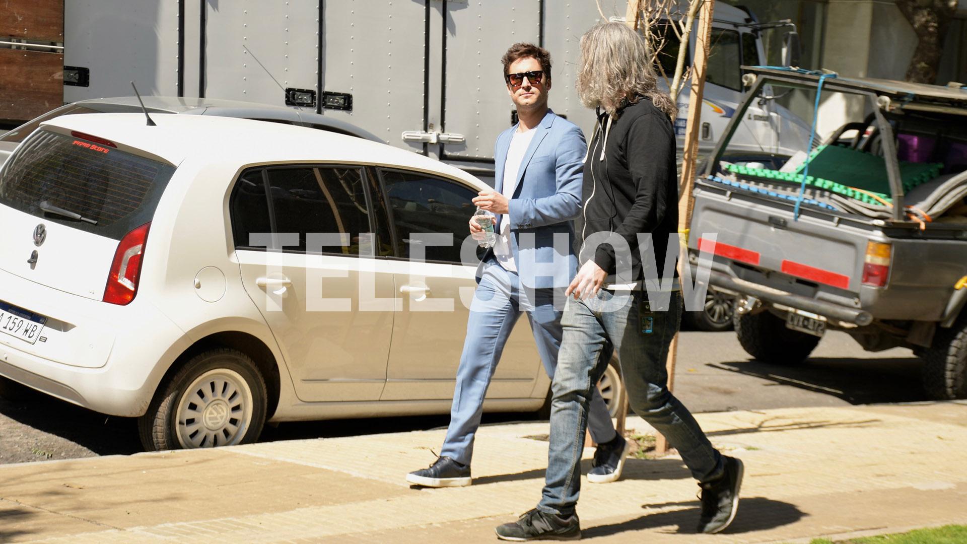En su estadía en la ciudad, también se reencontró con el actor argentino César Bordón, que interpretó a su representante Hugo López en la serie