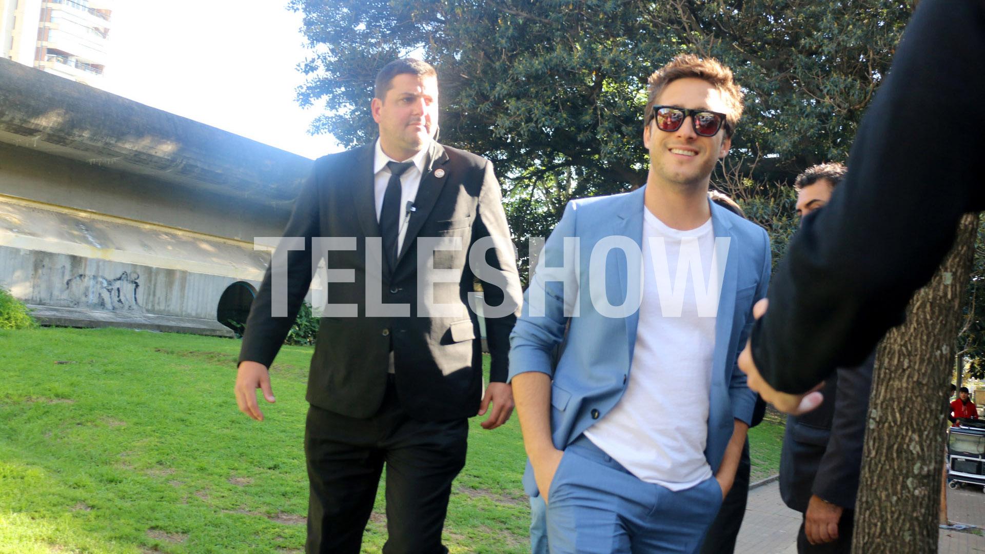 Diego Bonetallegó a la Argentina el domingo a la noche para grabar un comercial (Verónica Guerman y Chino Soler)