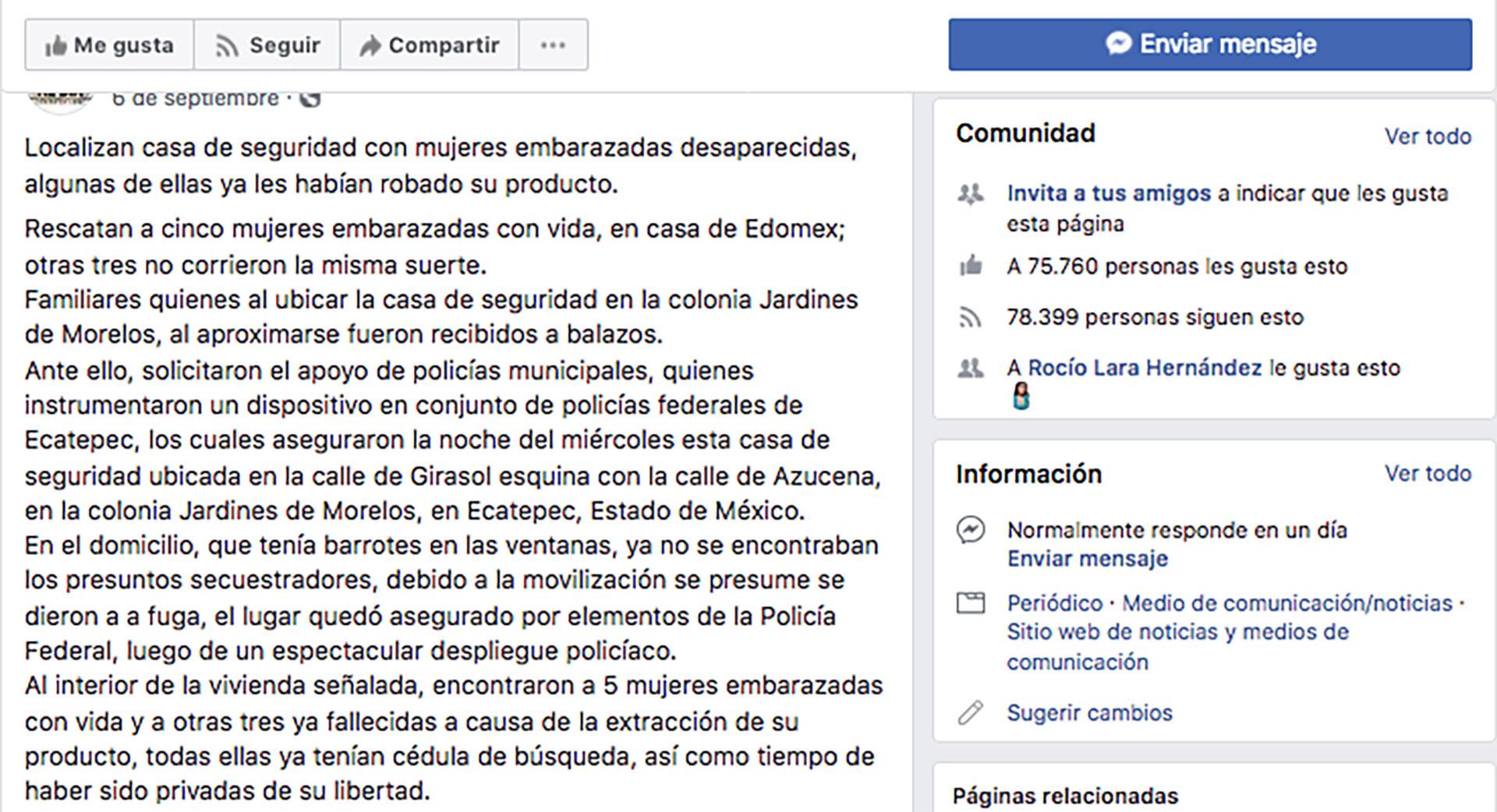 En el texto se advertía sobre la comercialización de bebés, como sucedió en uno de los casos confesados por Juan Carlos