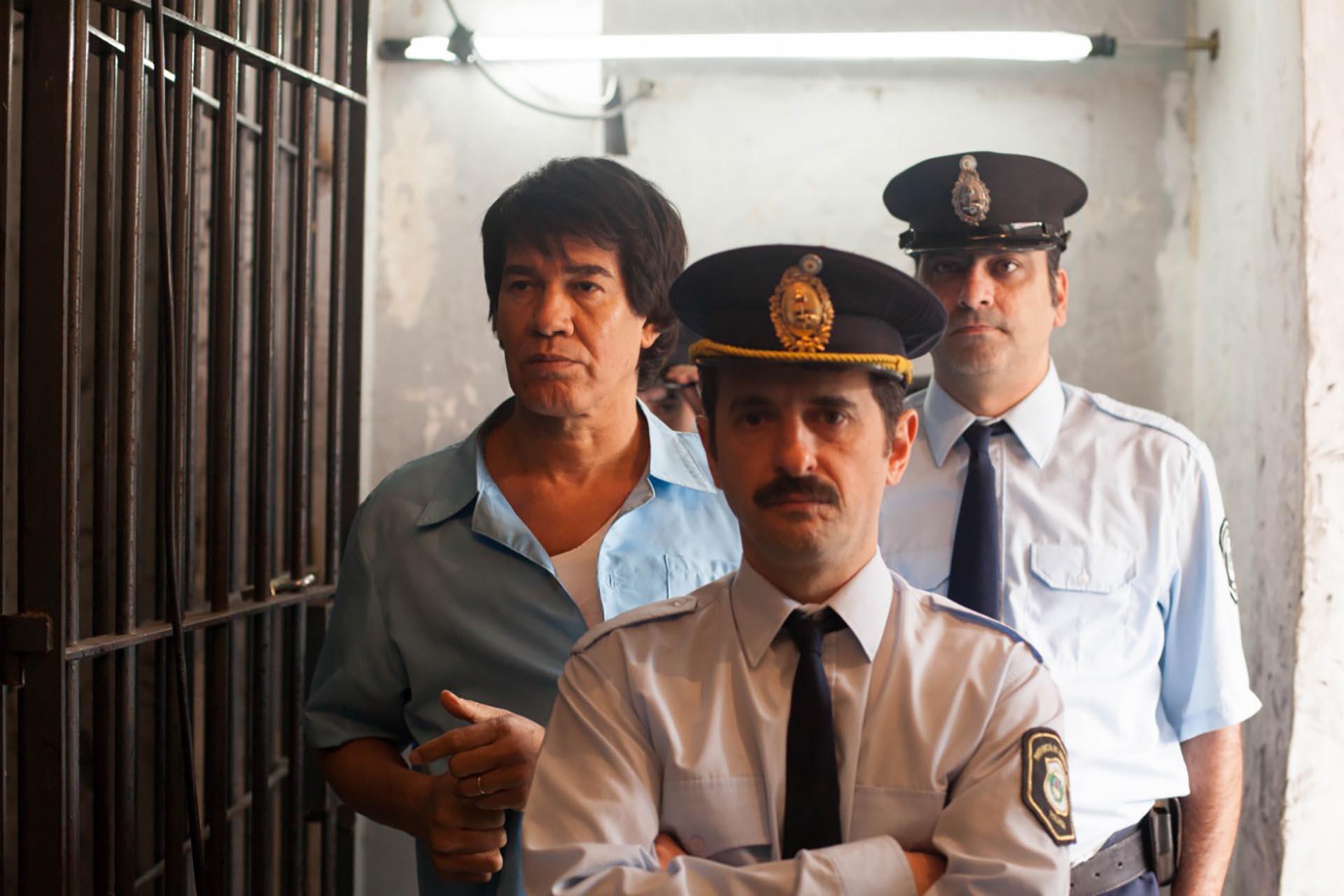 Jorge Román como Carlos Monzón en la serie sobre el boxeador