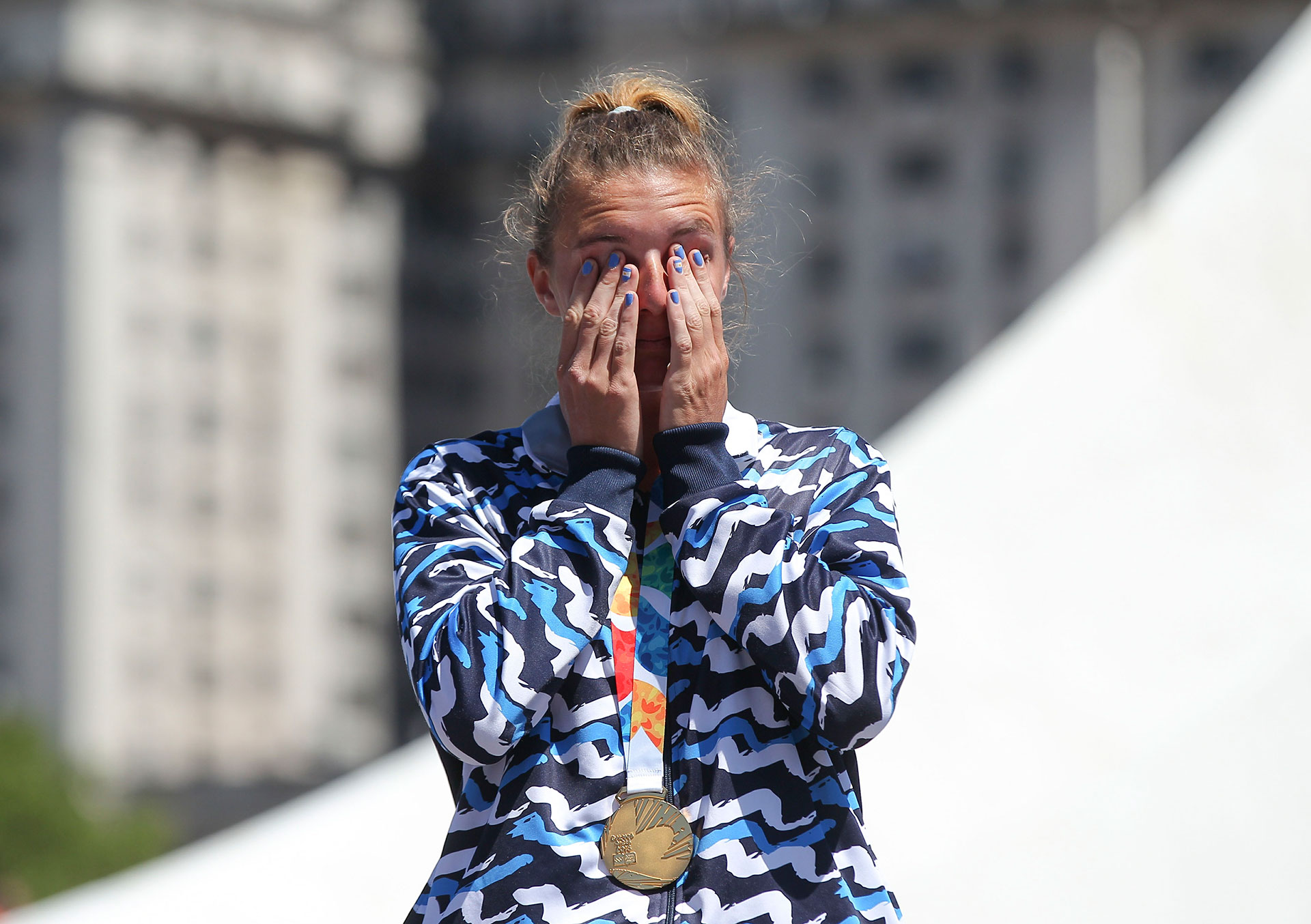 María Sol Ordas consiguió la primera medalla dorada para Argentina en remo (NA)
