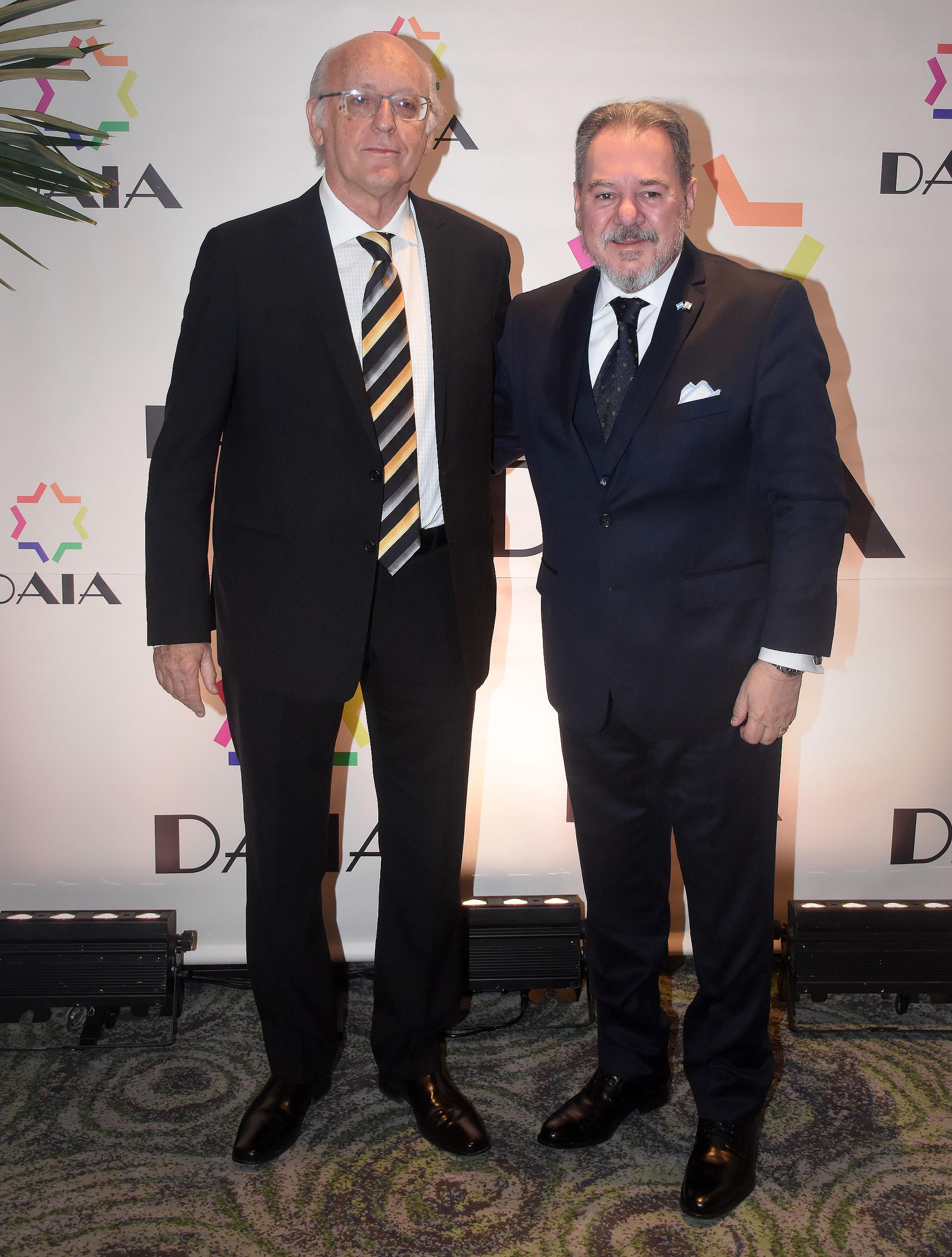 Alberto Indij junto a Mario Montoto, presidente de la Cámara de Comercio Argentino Israelí